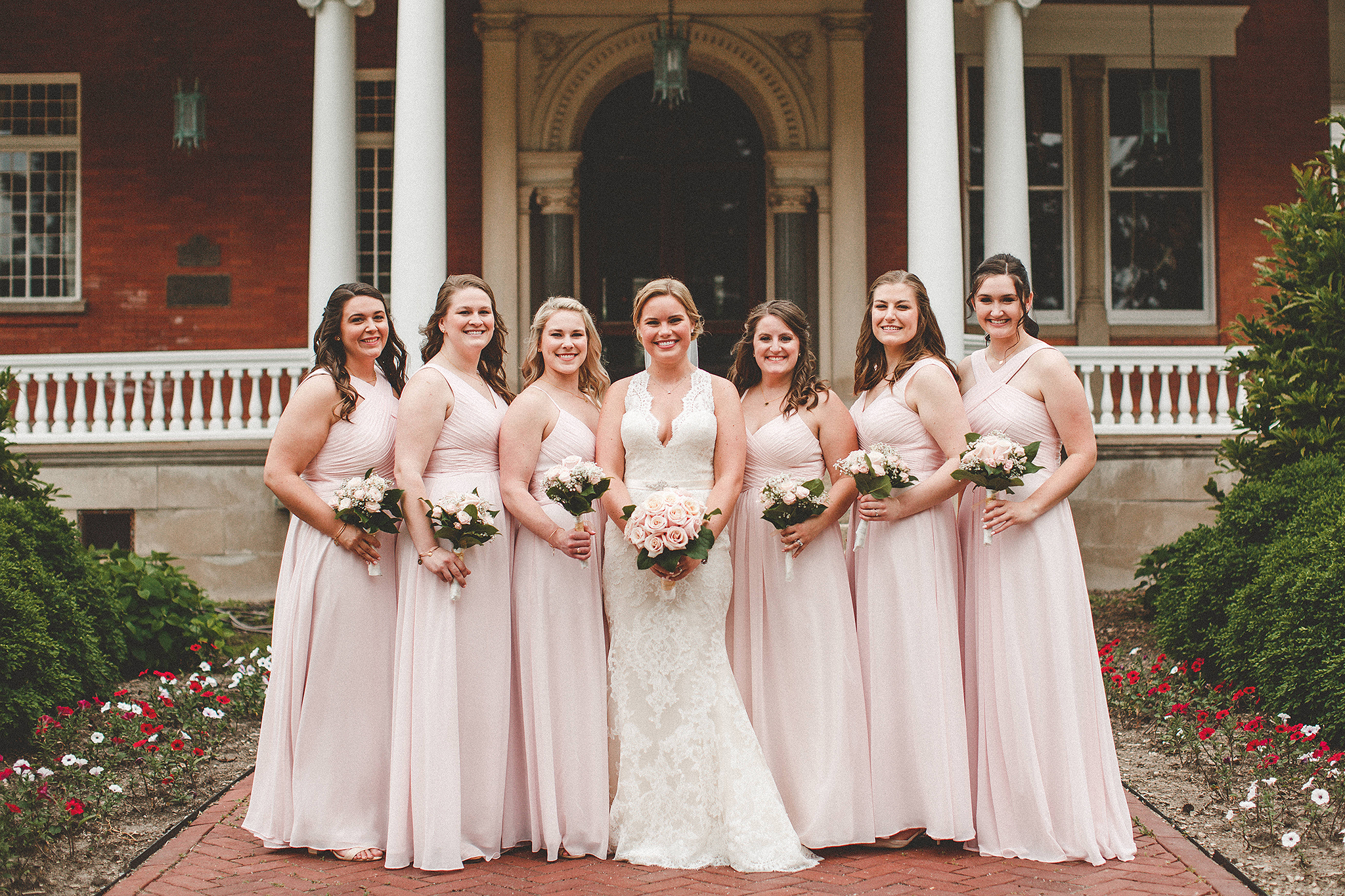 bridesmaid picture at the ellwood house | dekalb, il wedding photographer | chrissy deming