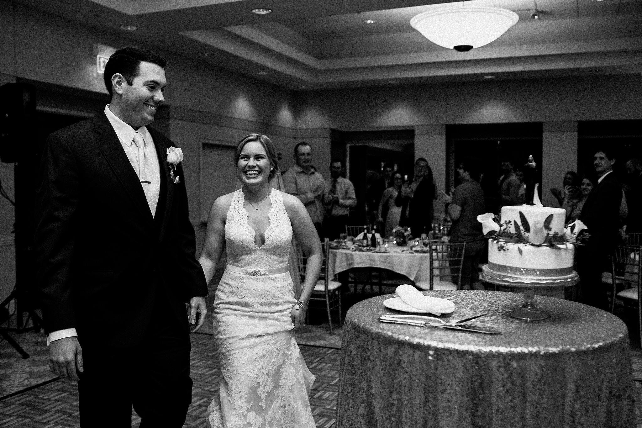 bride and groom reception entrance | dekalb, il wedding photographer