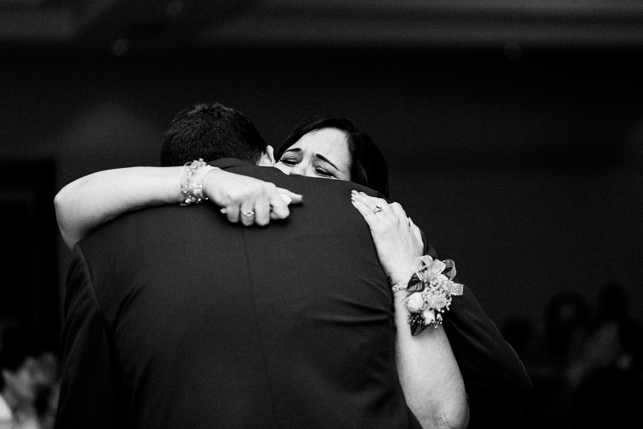 mother and groom dancing, mother son dance, mother of groom crying | dekalb, IL wedding photographer