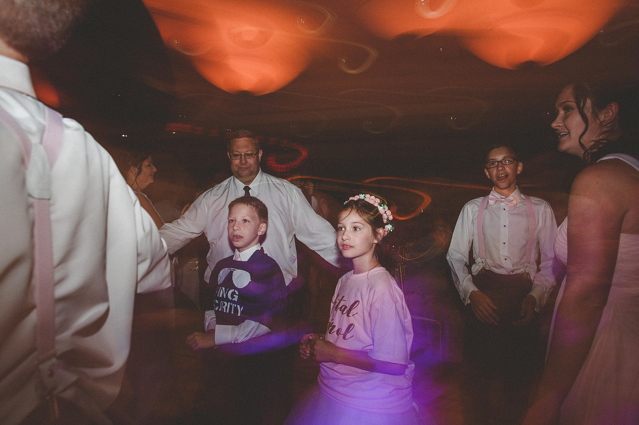 reception dancing pictures with shutter drag | barsema alumni center dekalb wedding photographer