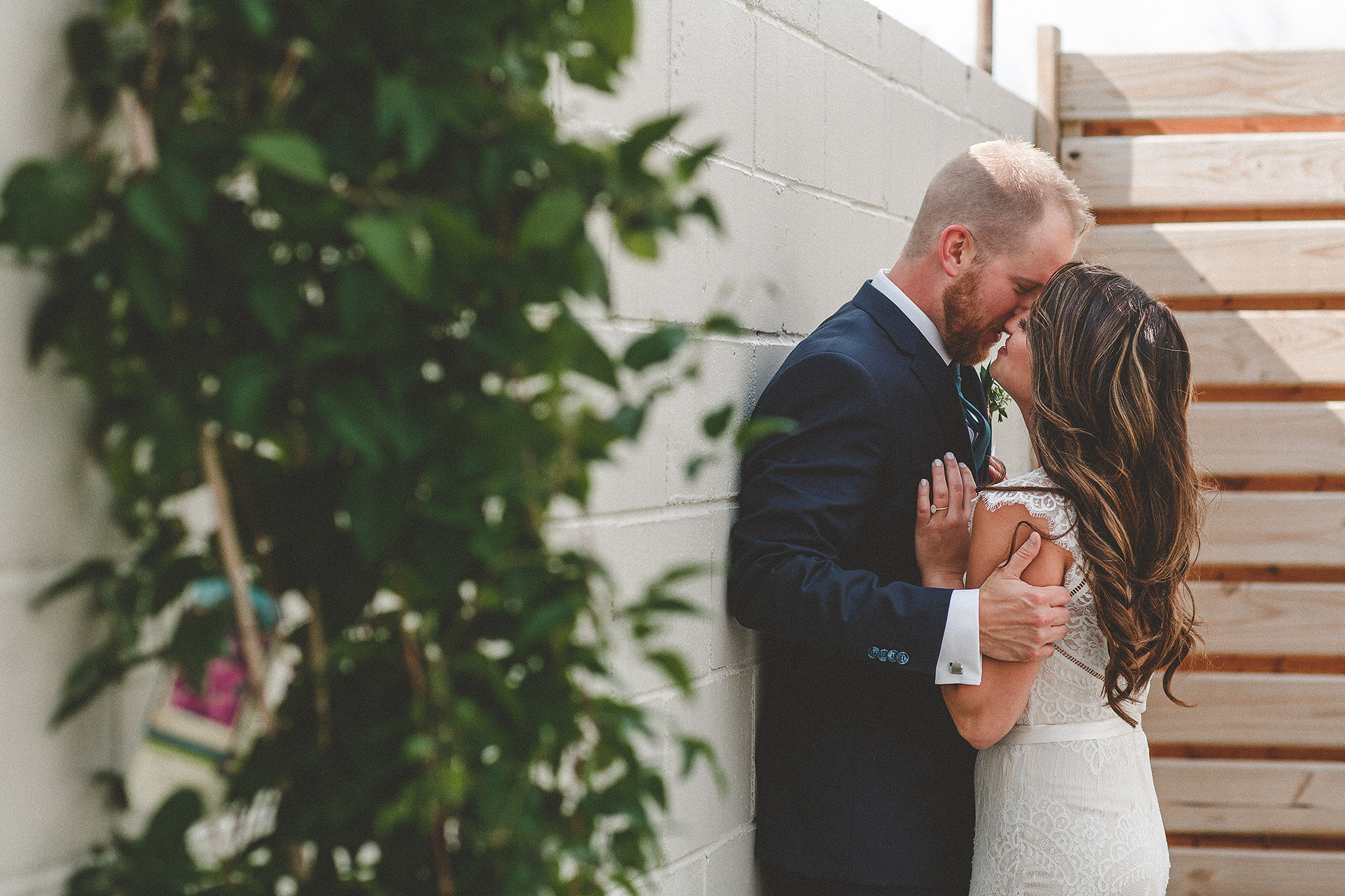 bride/groom candid intimate picture || the ivy house milwaukee wedding photographer | chrissy deming