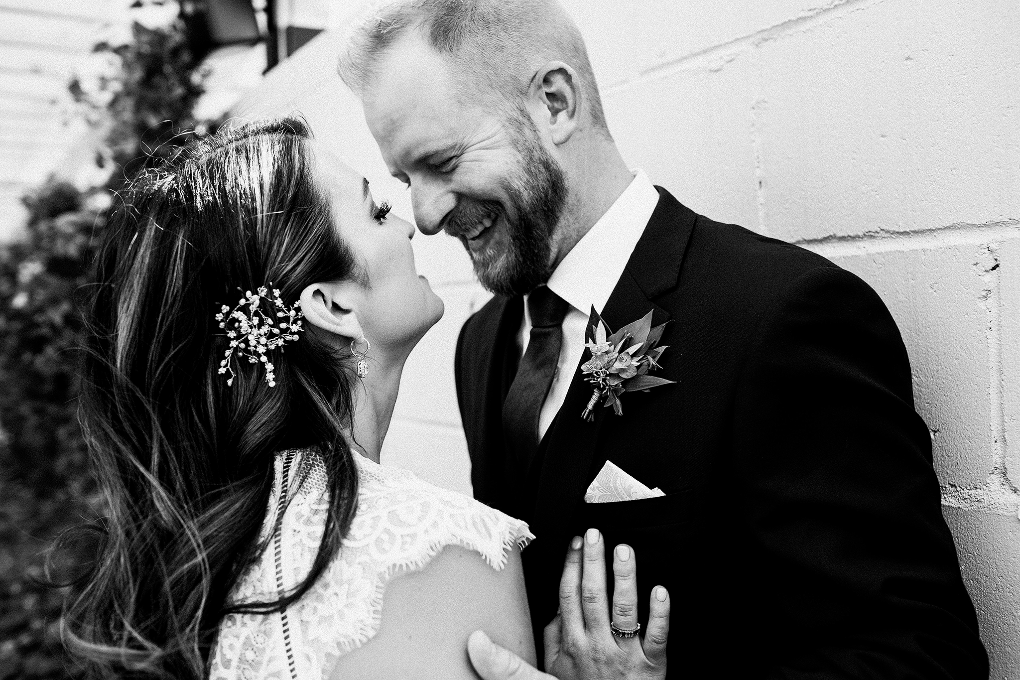 bride/groom candid intimate laughing picture | the ivy house milwaukee wedding photographer | chrissy deming