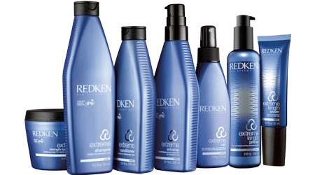 Redken has several different lines that correlate with the chemistry treatment system, like the extreme line for protein infusion andstrength.