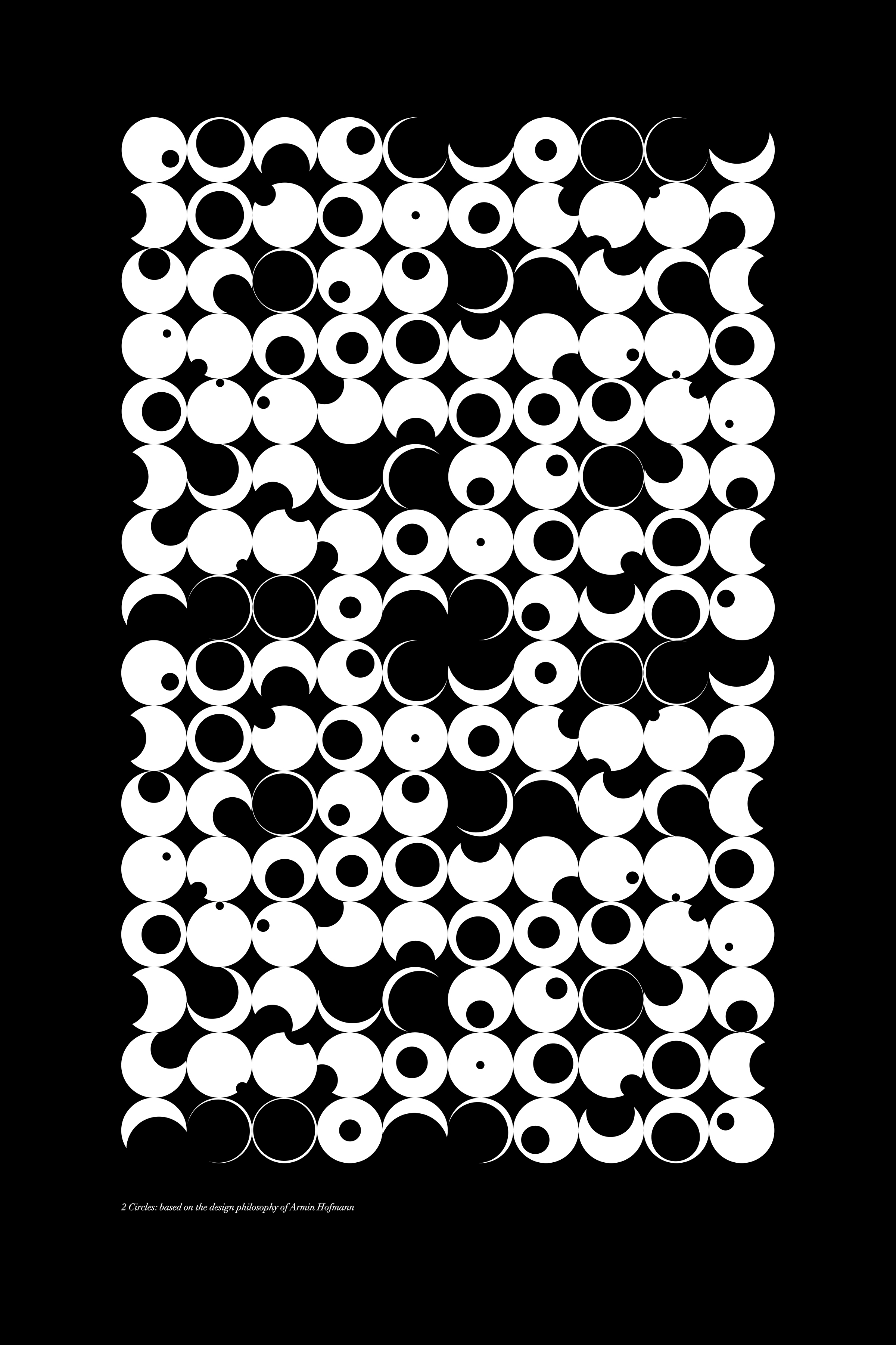 B&W Circles Inverse Step 2: 24x36