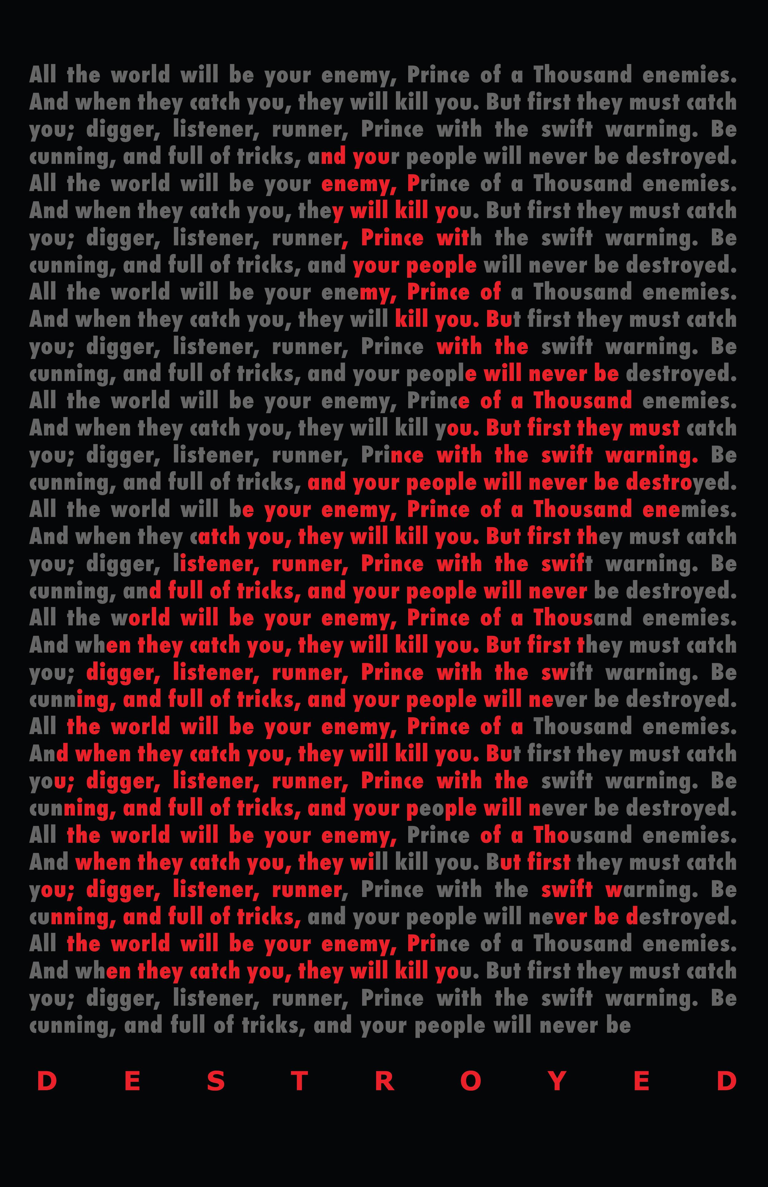 ART240 Intro to Type - Quote Poster: Apollo Kiest