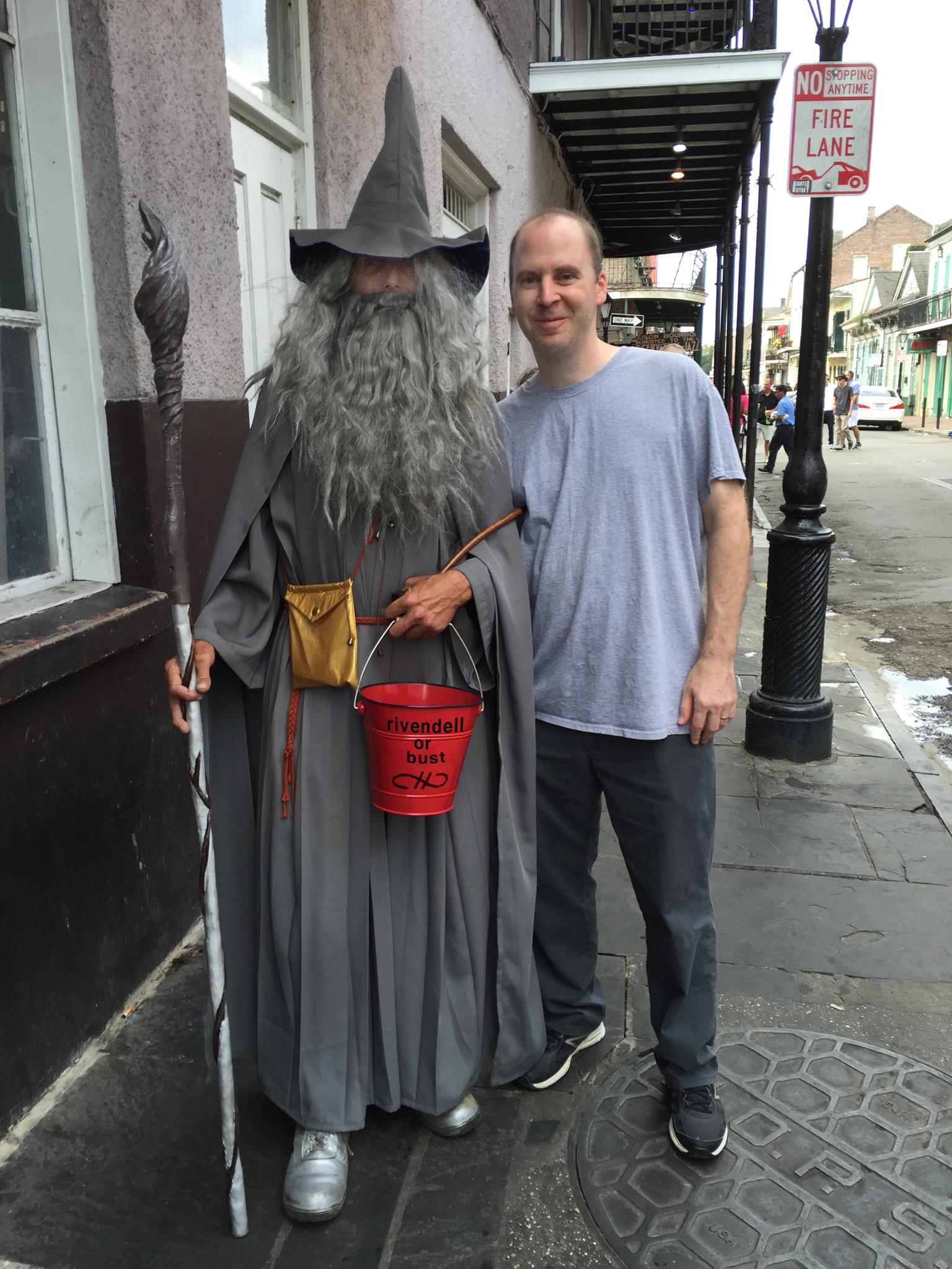 Adventuring with Gandalf at the 2015 AIGA Conference in New Orleans.