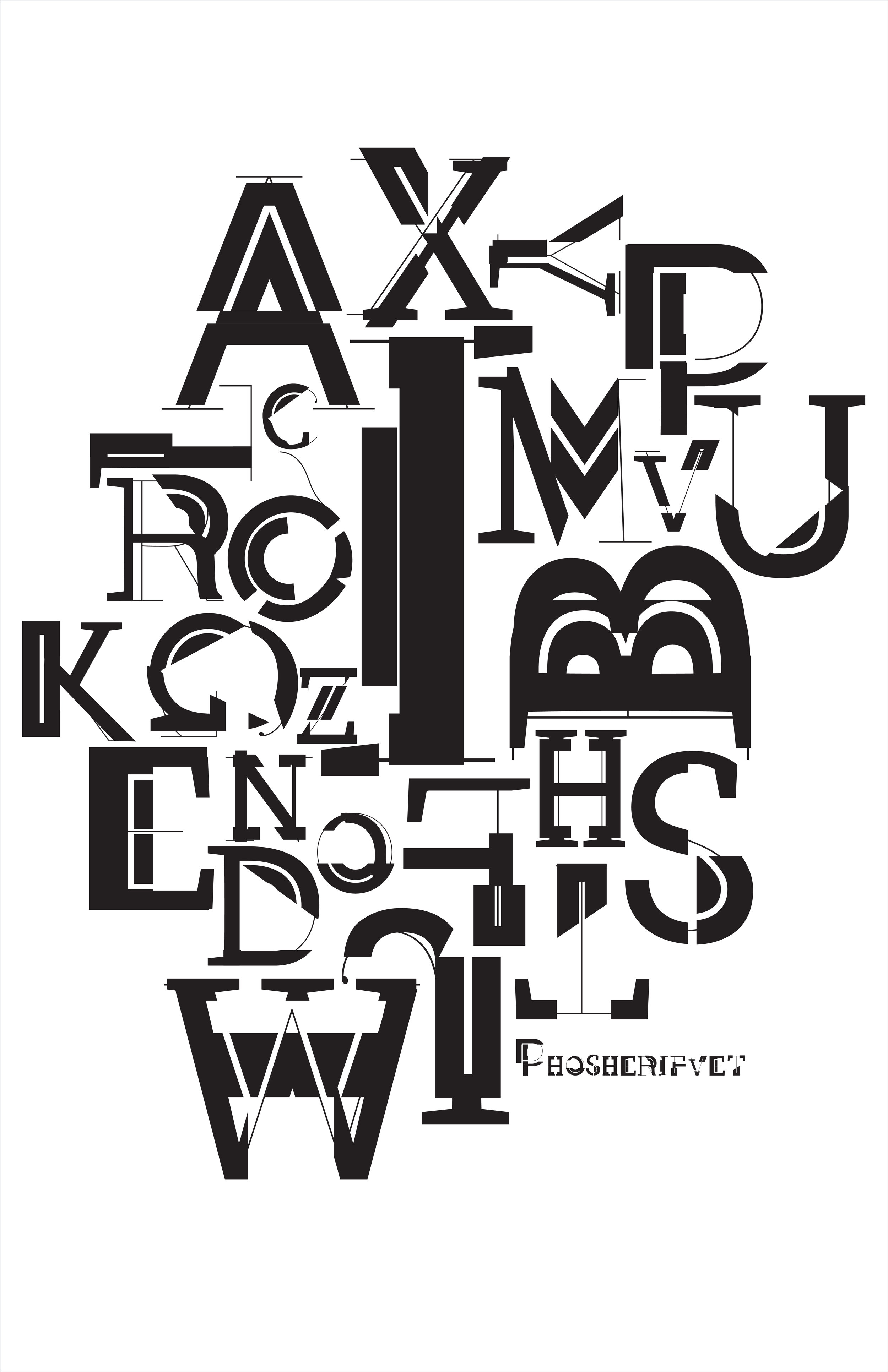 ART327 Advanced Typography - Frankenstein Typeface: Jessica McCool