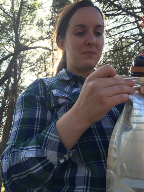 I took care of the important things, like making sure the  camping wine carafe  made it one piece.