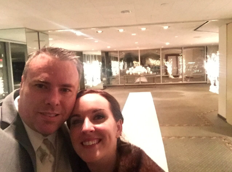 At the end of the night, we snuck back into the ceremony room and took one last photo.