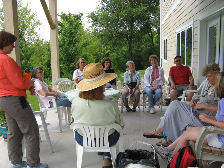 Introductions with Deb and Kent Donath, landowners.