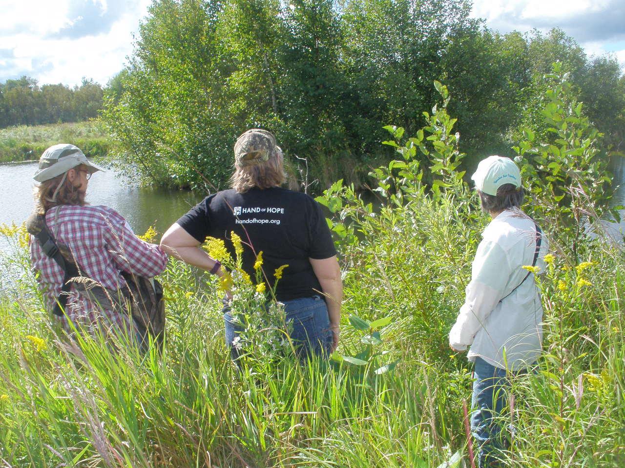 4 Gail Bong, Darla Van Heerde & Eileen Schantz-Hansen - native prairie & wildlife pond.JPG