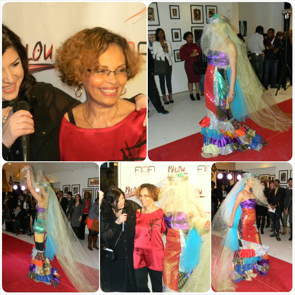 Malou maquillée par Sylkie Sly et sa robe de carnaval, fétiche de la soirée   photo: Sylkie Sly