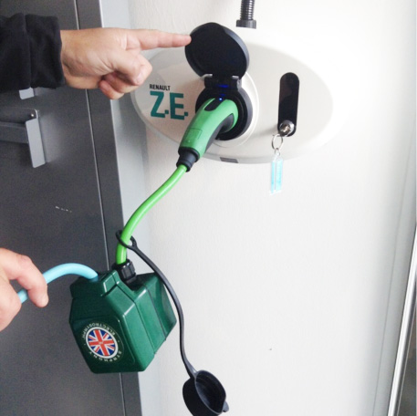 Charge your twizy anywhere with our cable adaptor