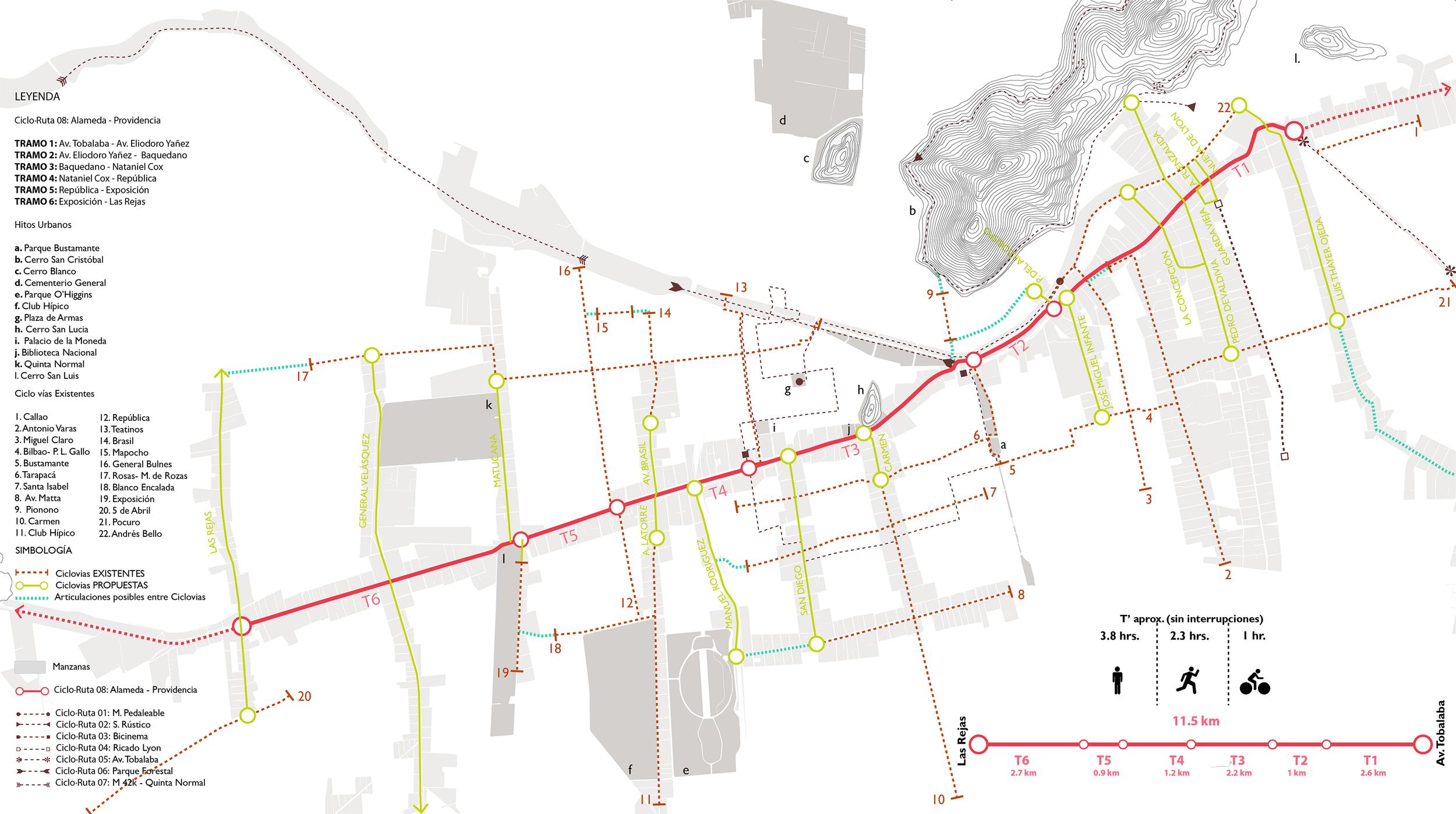 (8) Mapa de ruta adjunto © Francisca Salas P. para LOFscapes.