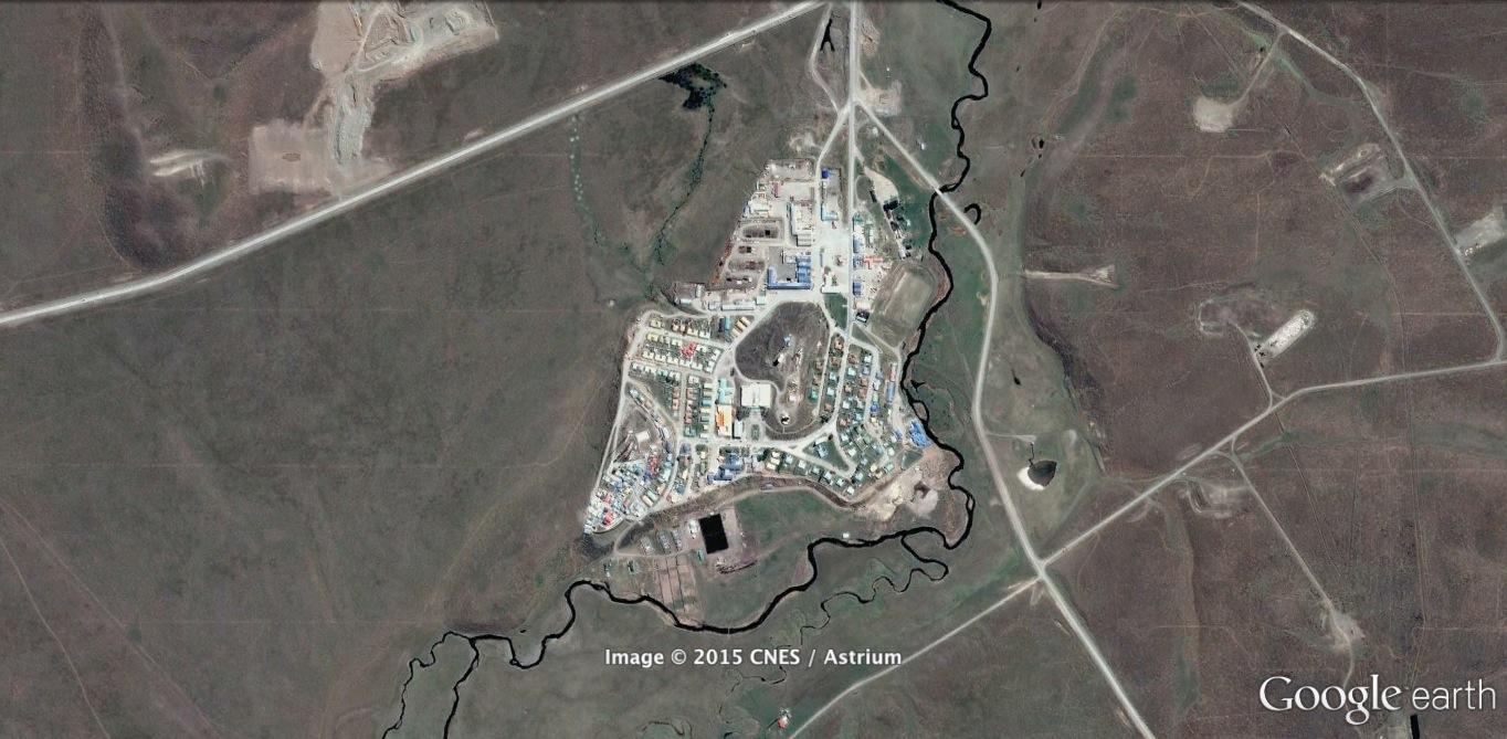 (2) Emplazamiento de Cerro Sombrero   (2015) ©    Google Earth    (2015)