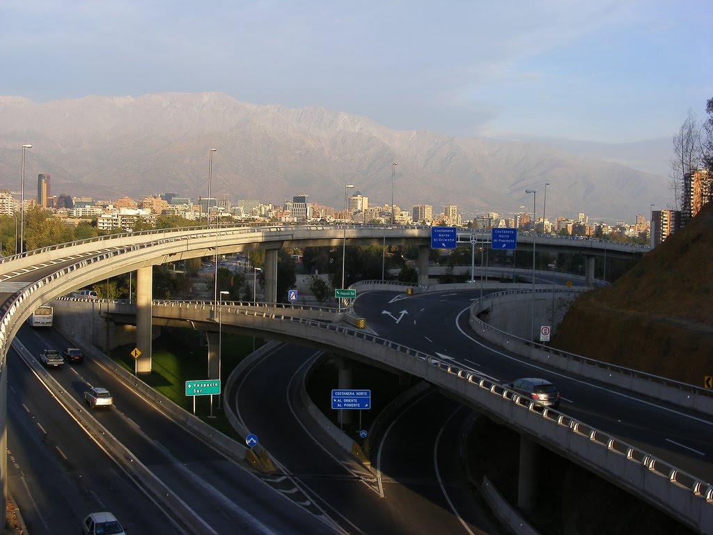 (4) Autopista Nor-Oriente, Costanera Norte (recup.2017) © maipo.net