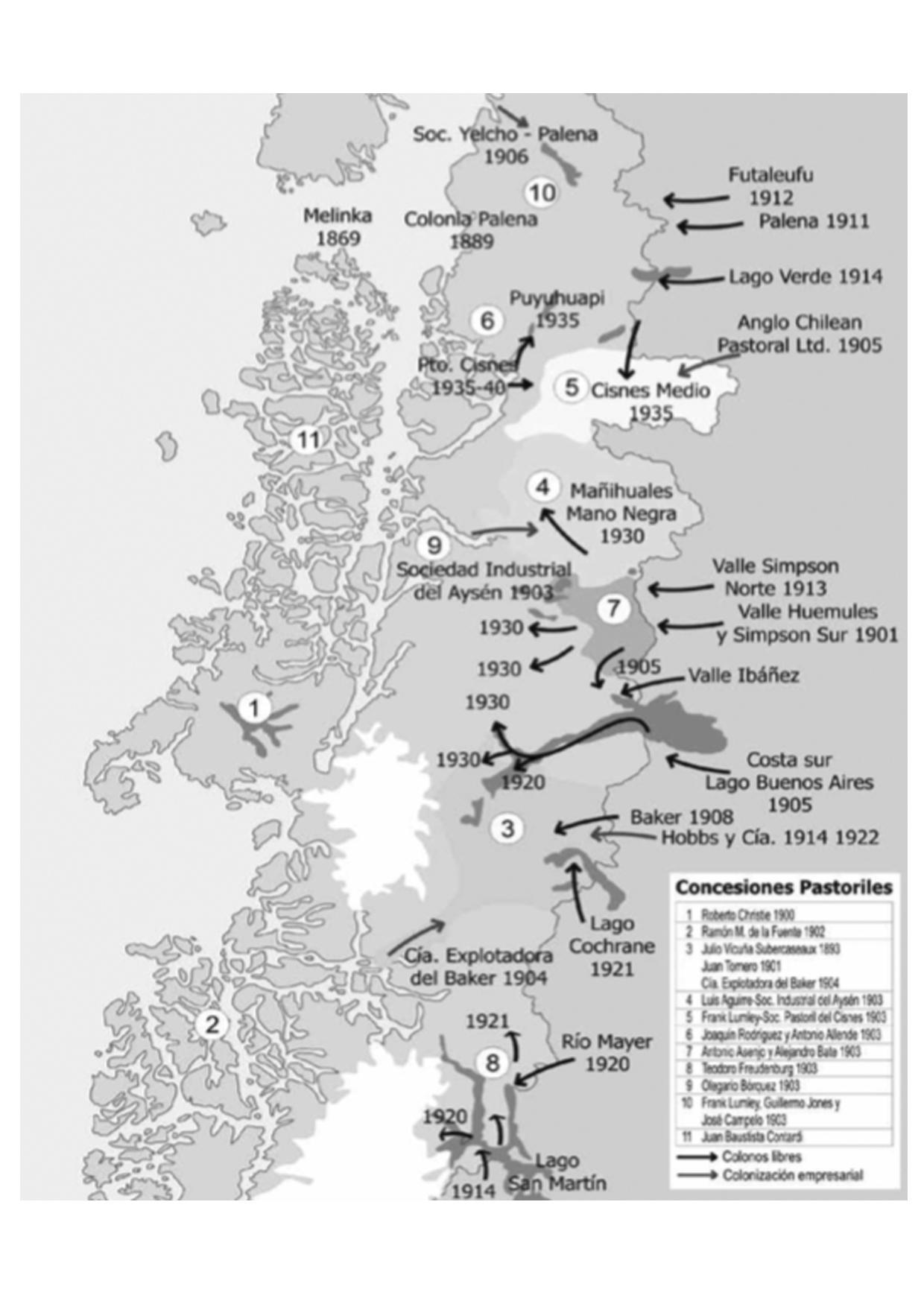 (1) Ocupación colonizadora 1900-40 en MARTINIC Mateo_De la Trapananda al Aysén