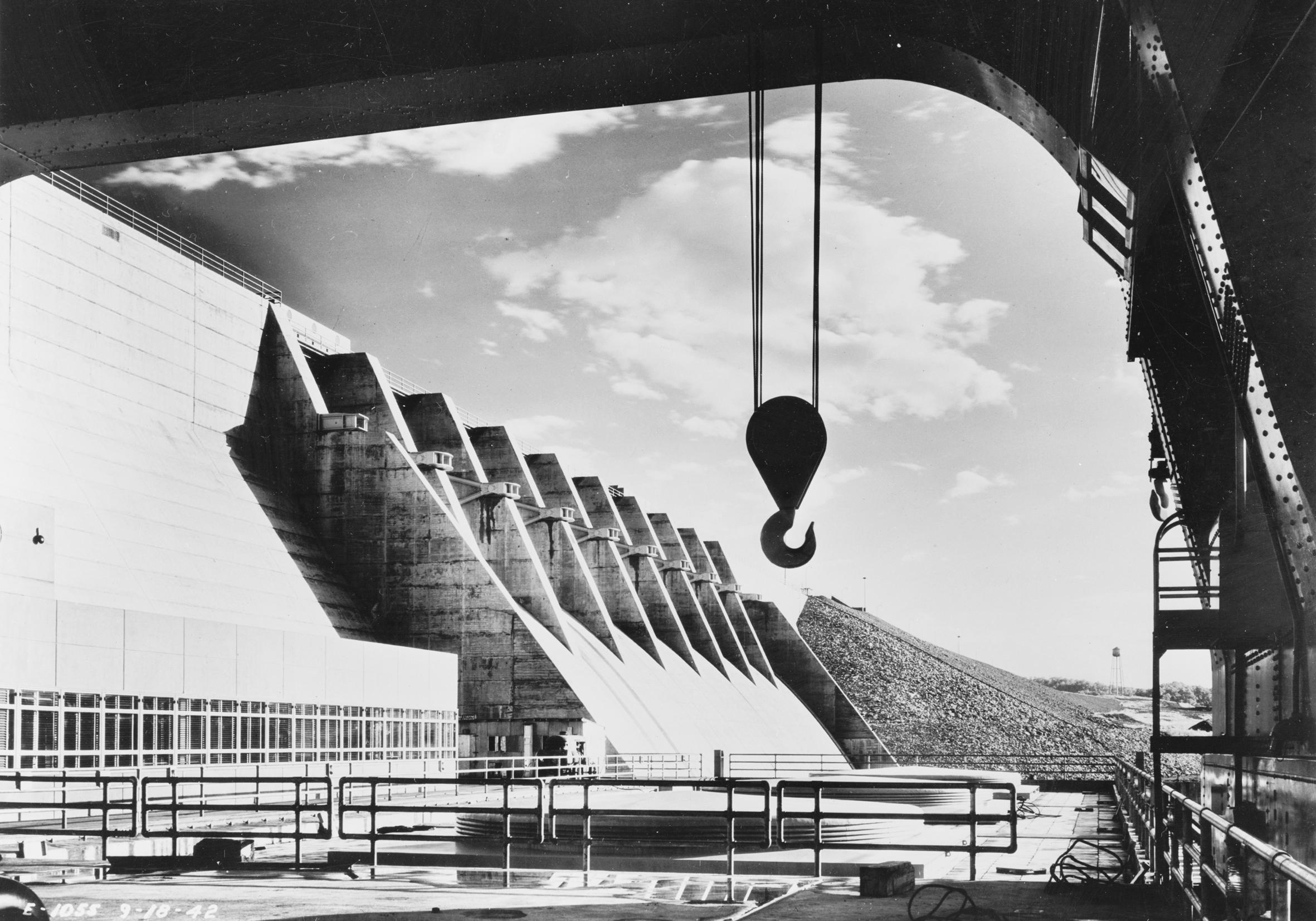(3) Presa Cherokee de la TVA en construcción (Tennessee, 1945) © Library of Congress. Prints and Photographs Division