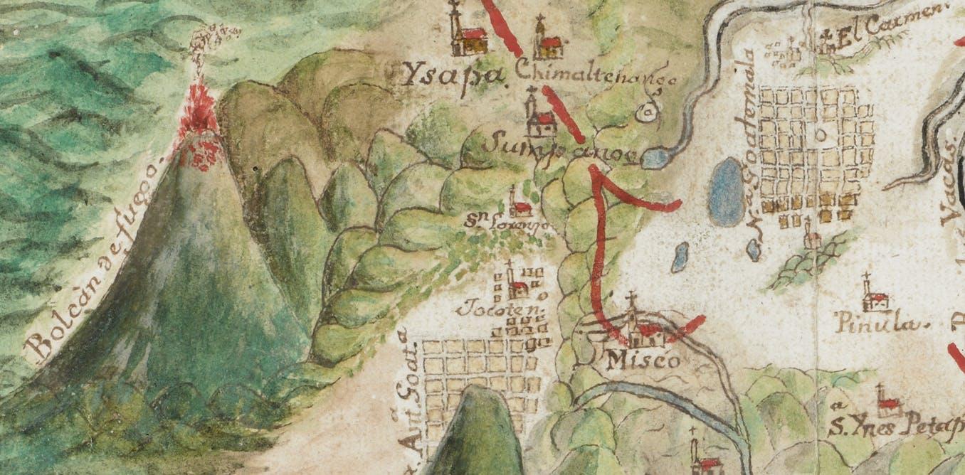(3) Mapa de la zona de Escuintla y Sacatepequez en Guatemala (1794) ©British Library Board