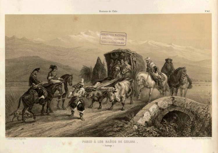 (4) Claudio Gay, Paseo a los Baños de Colina (1854) ©Memoria Chilena <http://www.memoriachilena.cl/602/w3-article-99628.html>