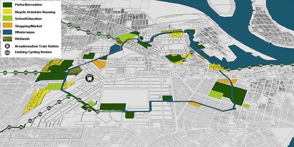 (2) Bike-plans. Newcastle Waterway Discovery Loop © Cicle-Space. para LOFscapes