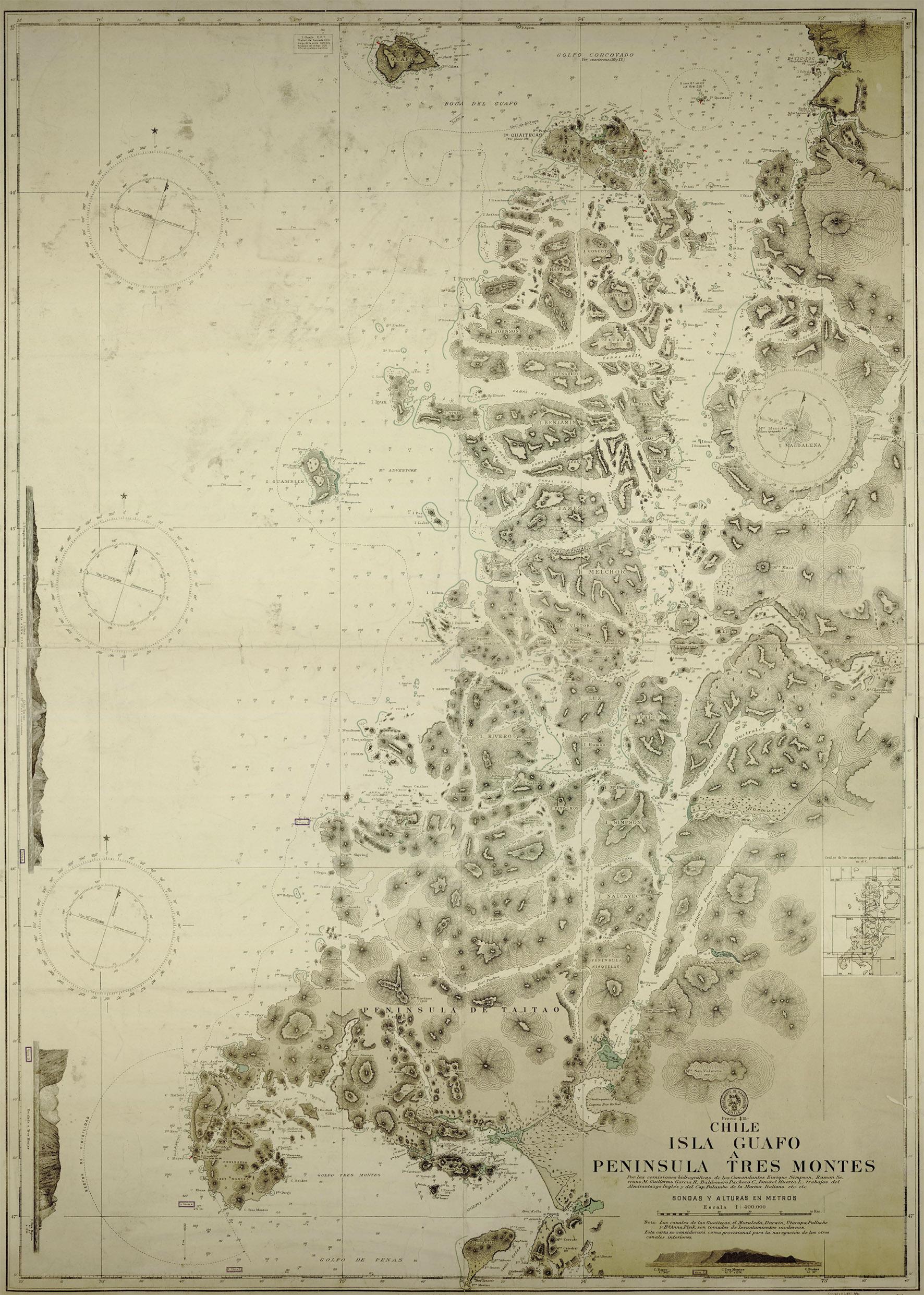 (5) Cartografía de las Comisiones Hidrográficas Armada de Chile, Comandante Simpson © Archivo Cartas Náuticas, Biblioteca Nacional de Chile.jpg