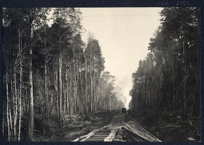 "(6)  Vía férrea cerca de la antigua ""frontera""  (ca.1906) © Biblioteca Nacional: Fotógrafo n/d"