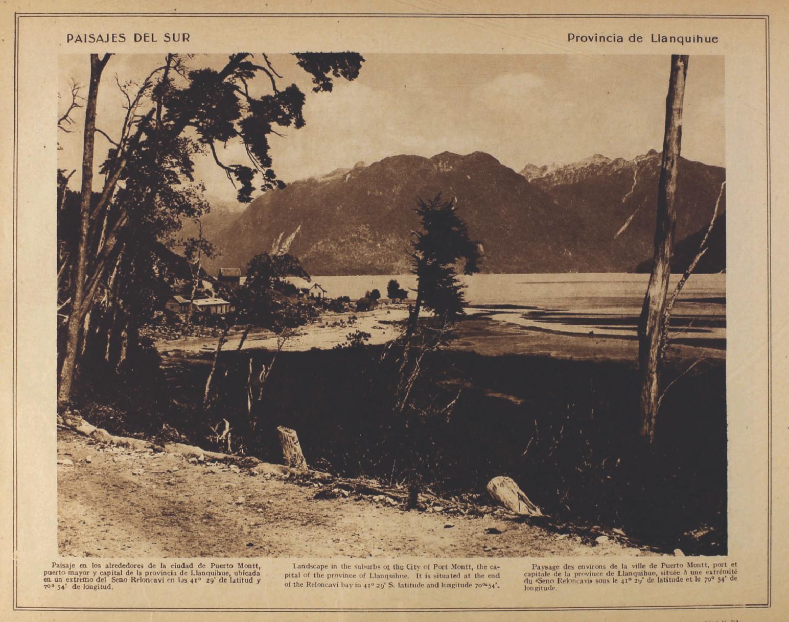 (9)  Paisaje del Sur.- Provincia de Llanquihue  (ca. 1915)
