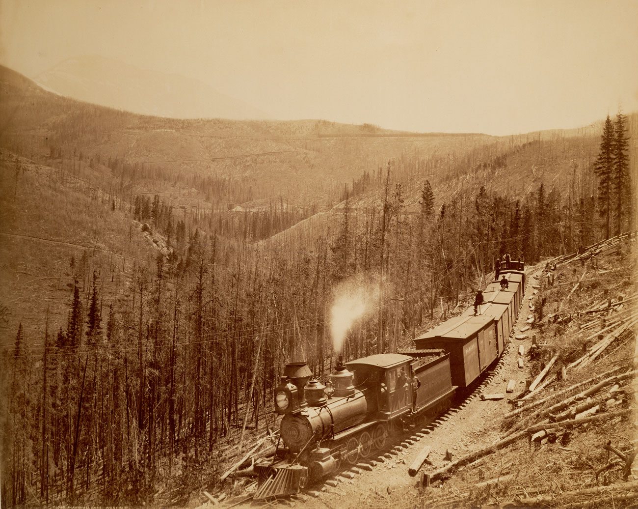 (5)  Marshall Pass, Westside, American Colorado (1881–1896) © William Henry Jackson