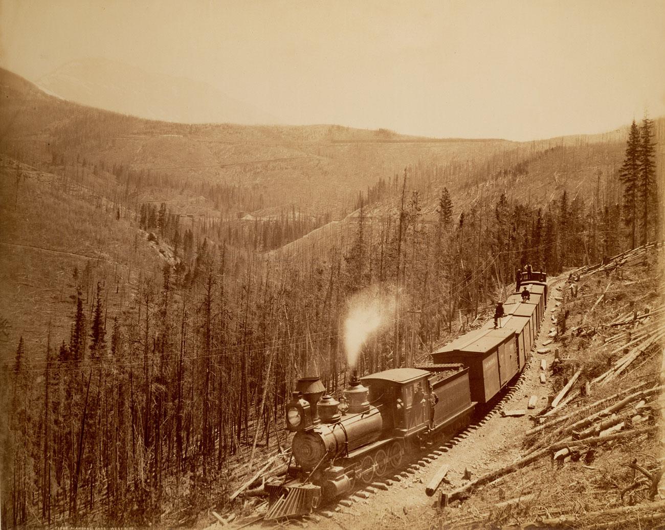 (5)  Marshall Pass, Westside, American Colorado (1881–1896) © William Henry Jackson