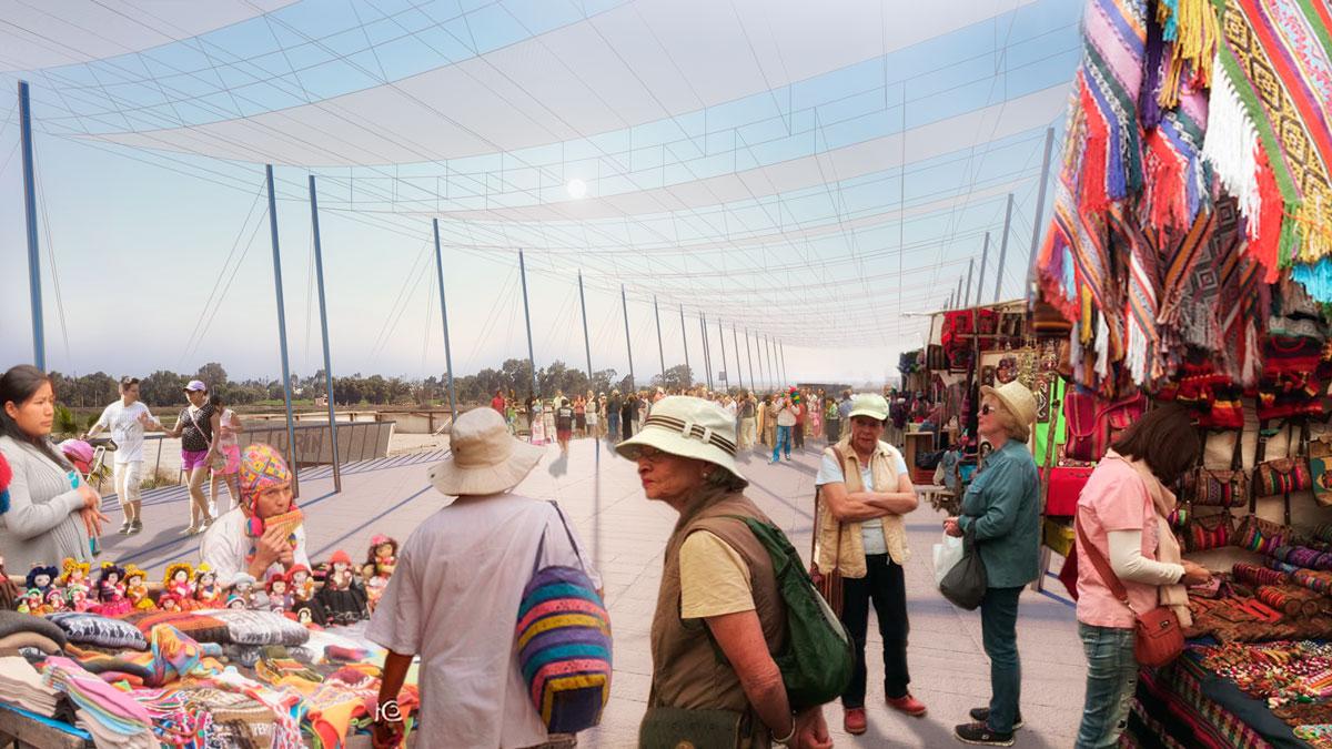 (10) Vista del Mercado de Artesanías © Alfaro, Lachhwani, Mckay  para LOFscapes.