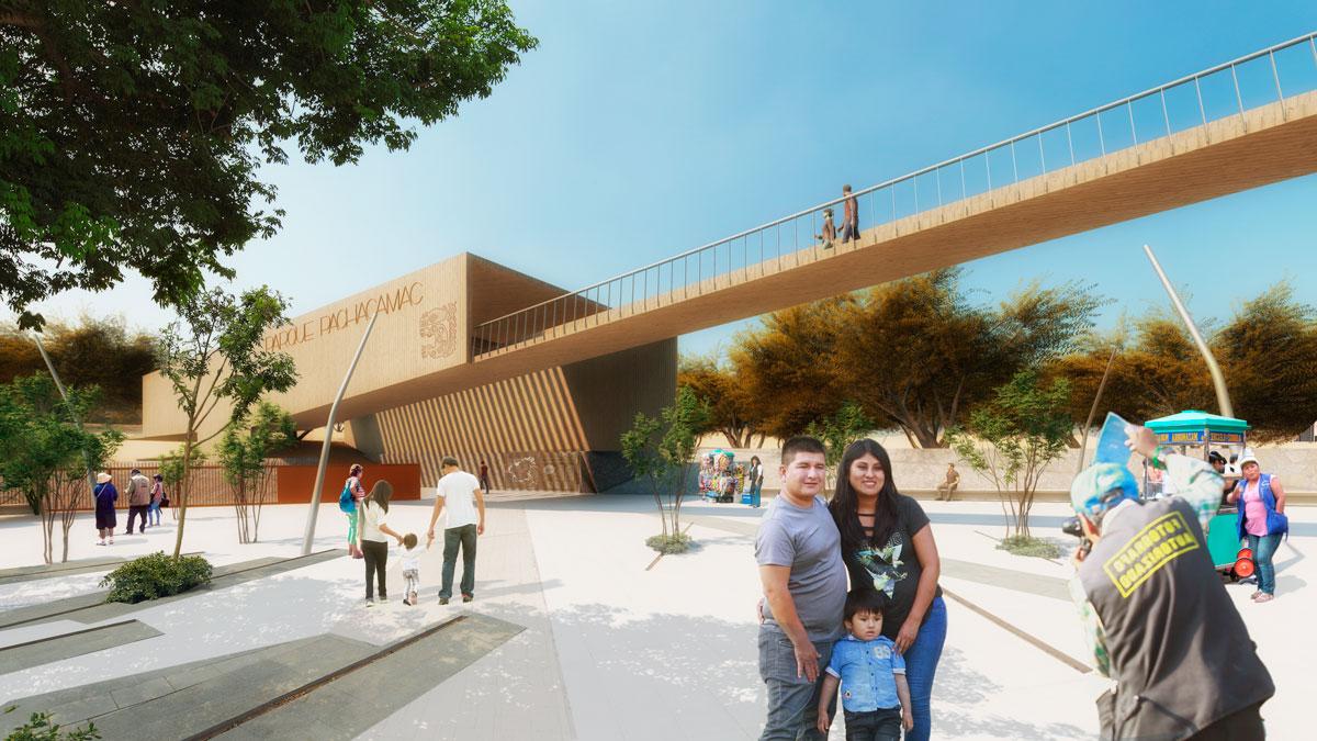 (11) Vista del acceso sur y puente de los museos © Alfaro, Lachhwani, Mckay  para LOFscapes.