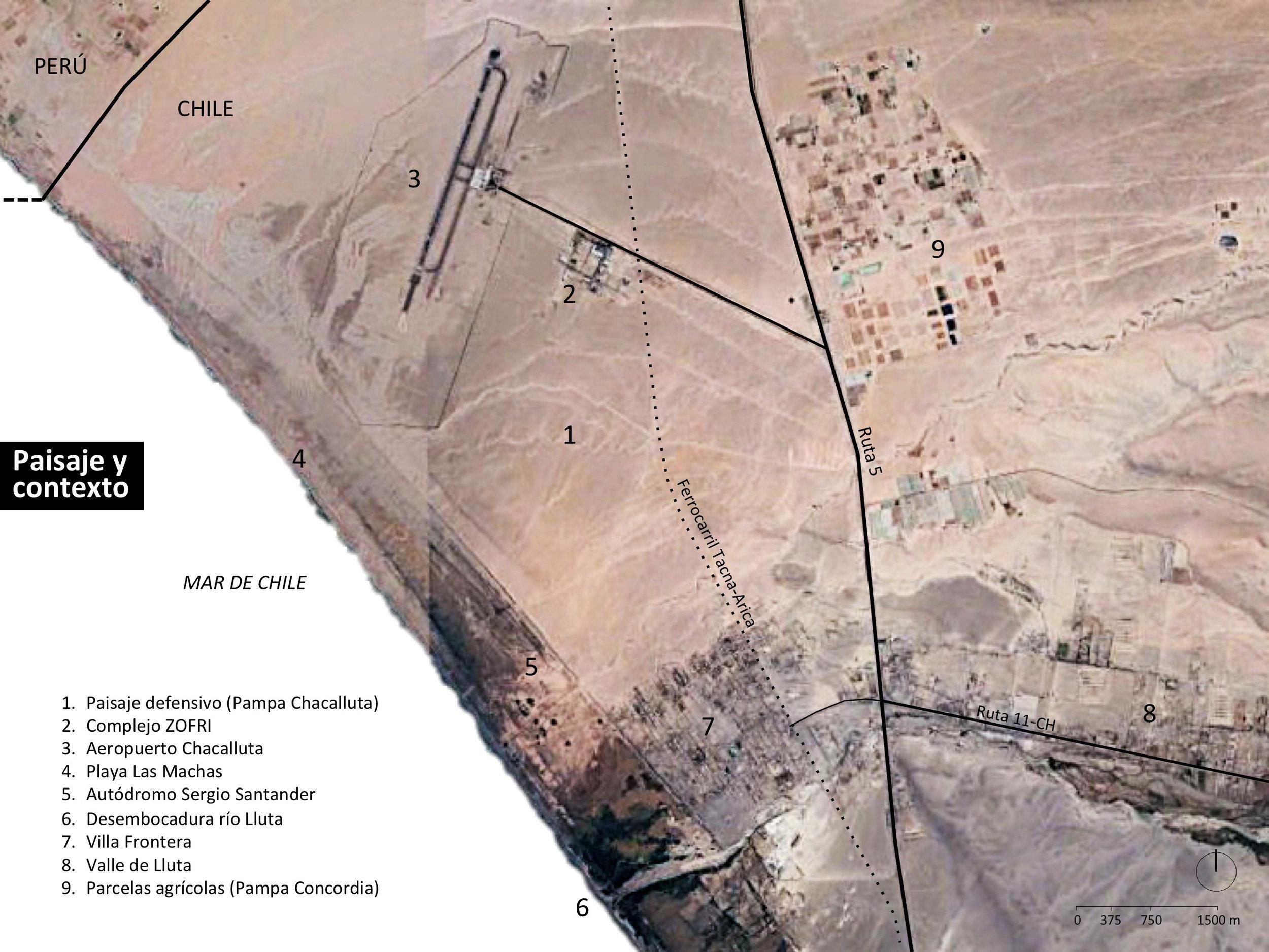 (5) Sergio Ortega C.,  El paisaje defensivo y su contexto (2019) – © Google Earth Pro