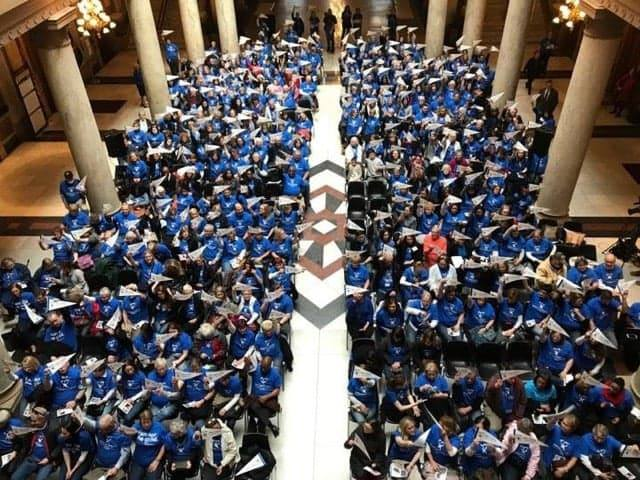 Look at all the Indiana CASAs who came out for CASA Day at the State House.