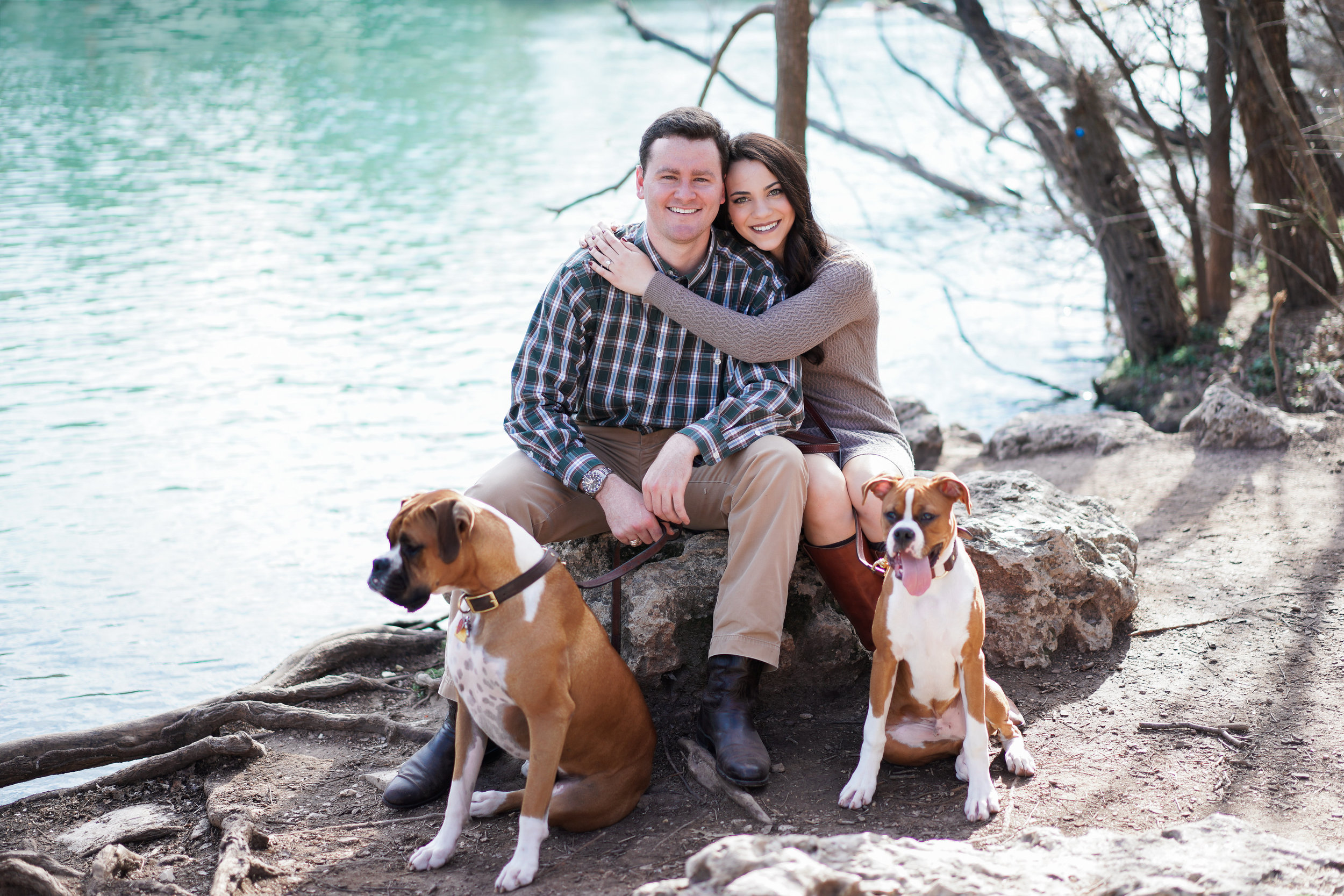 Austin Texas Engagement Session at Zilker Park and Sekrit Theatre.