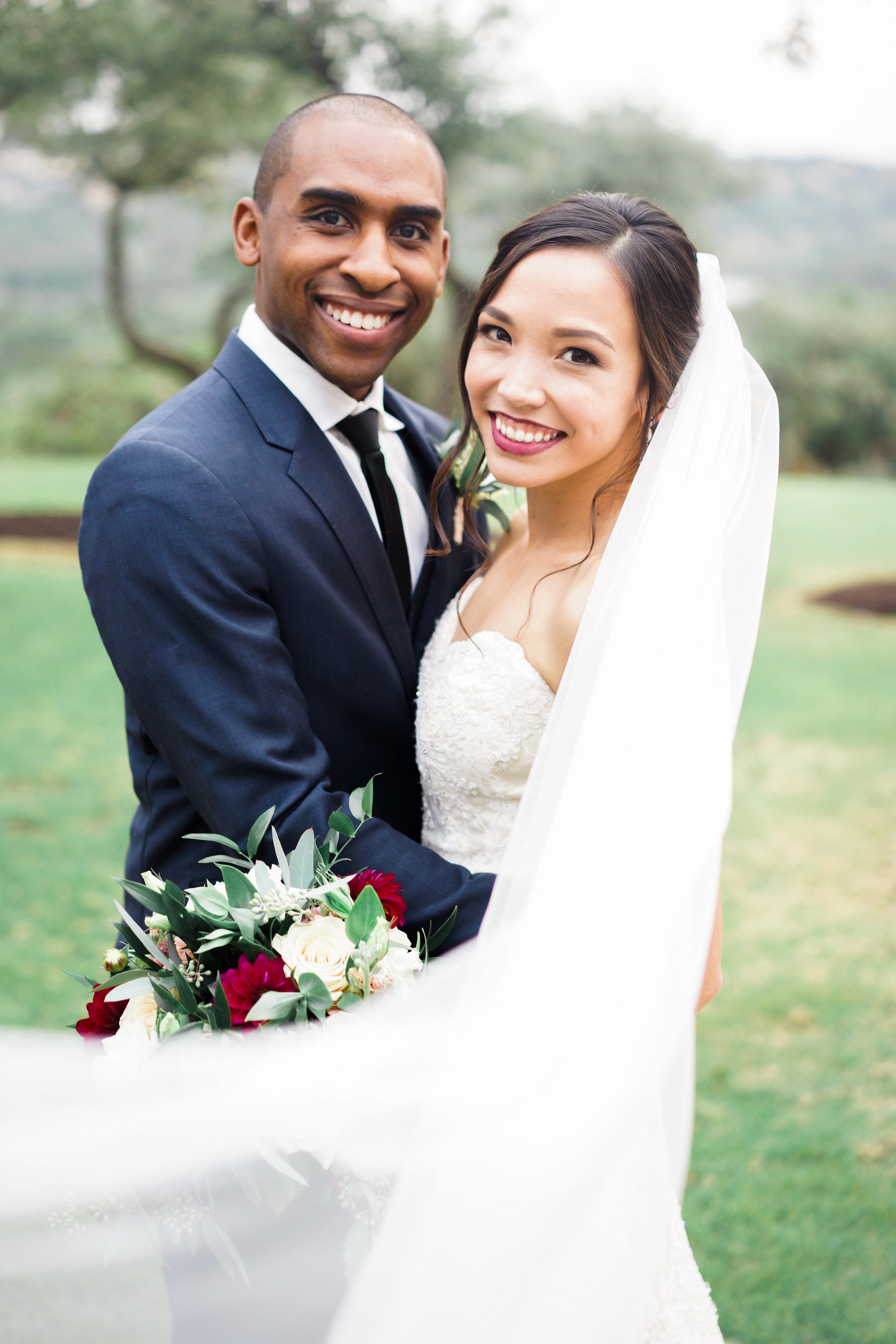 Such a beautiful bride and groom at their Canyonwood Ridge wedding in Dripping Springs!