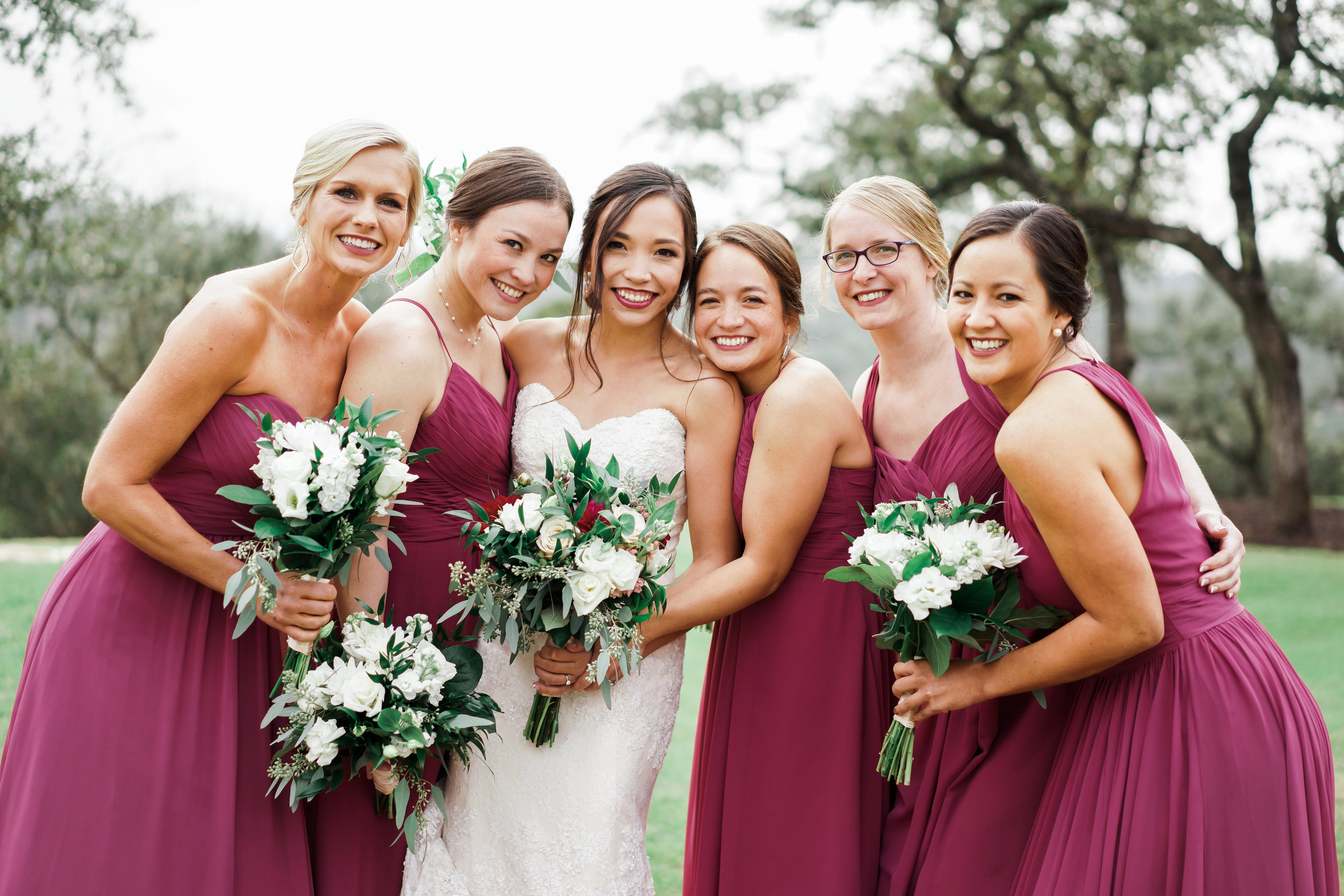 Beautiful bridesmaids at Canyonwood Ridge! Such a perfect wedding venue for the winter!