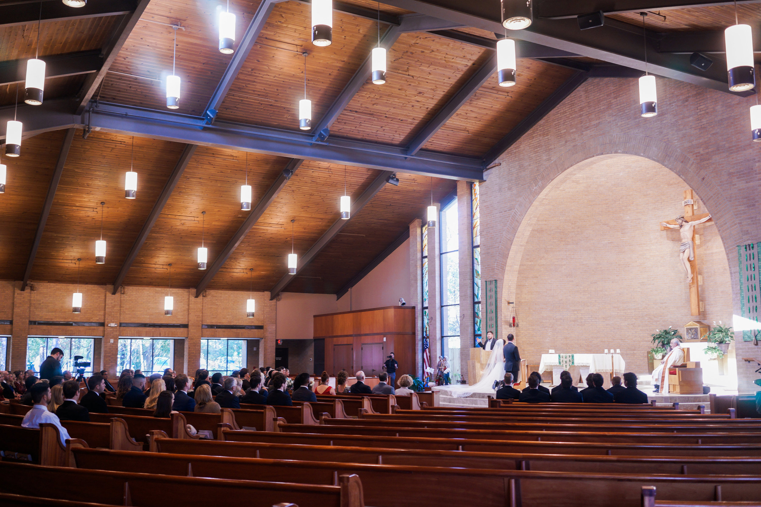 The Springs Event Venues- Lake Conroe wedding. Catholic ceremony Houston winter wedding.
