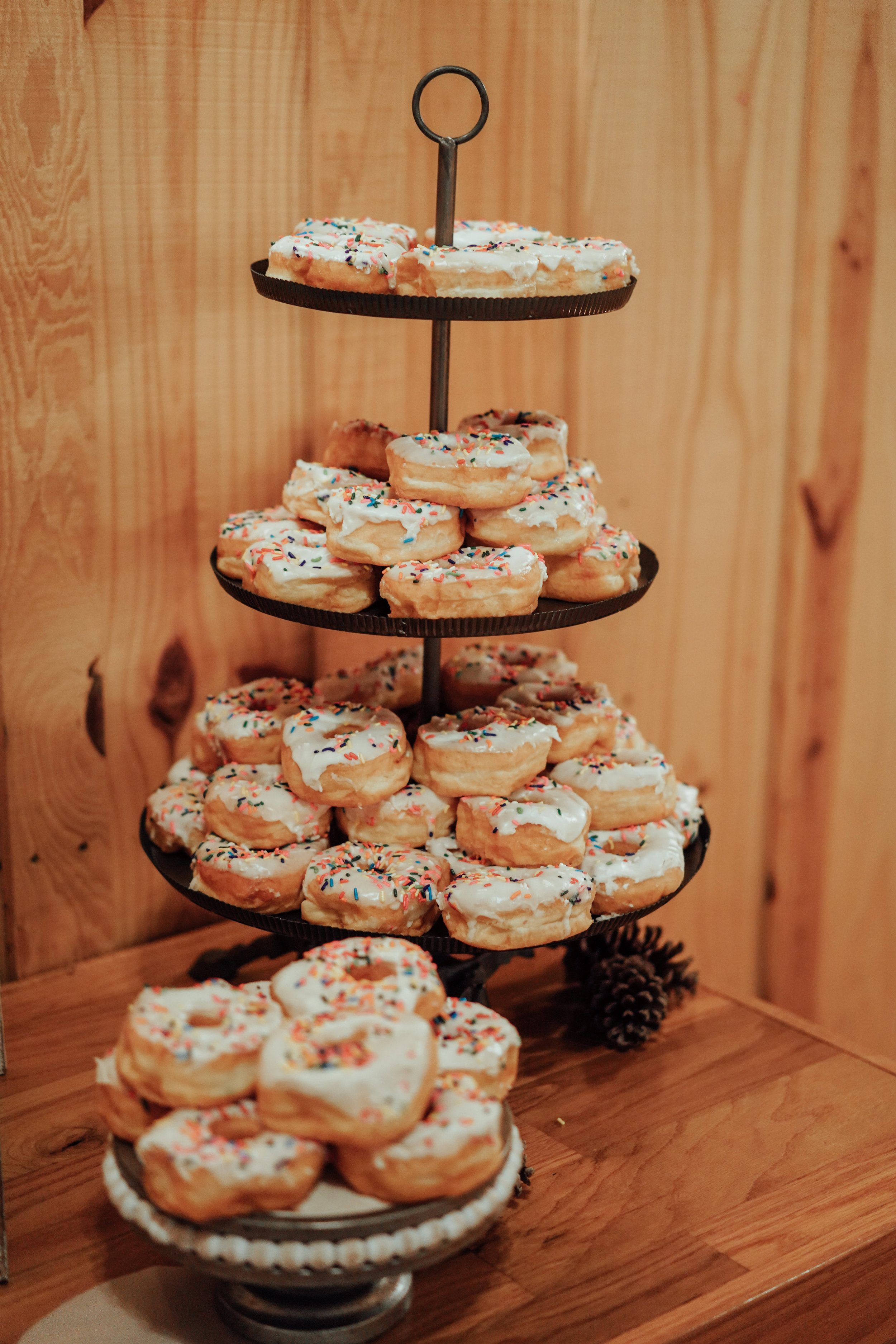The Springs Event Venues Lake Conroe in Montgomery Texas Wedding venue. Austin and Hoston wedding photographer. Donut dessert bar.