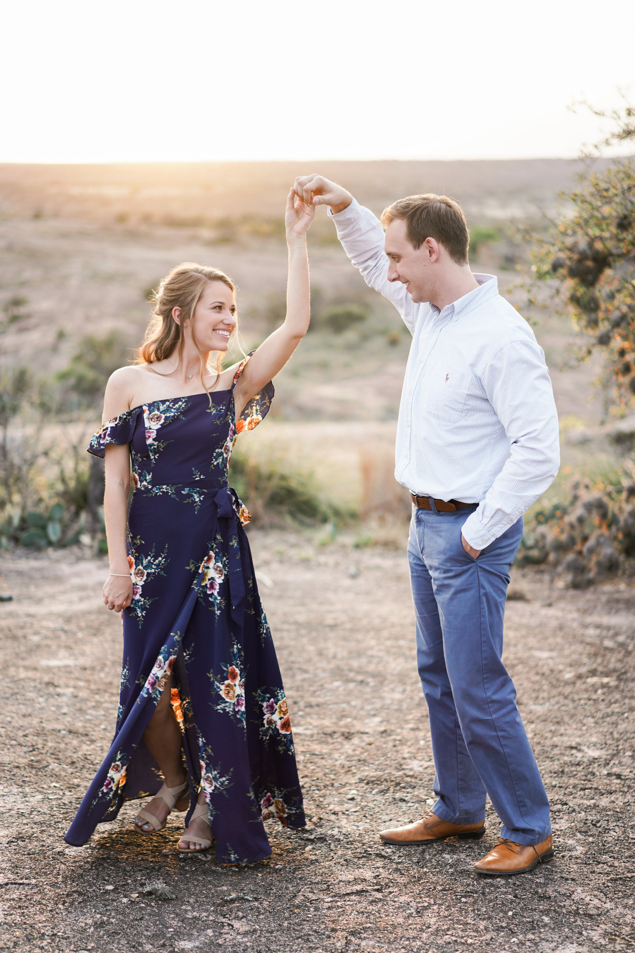 Flowy dresses look great for engagement sessions!