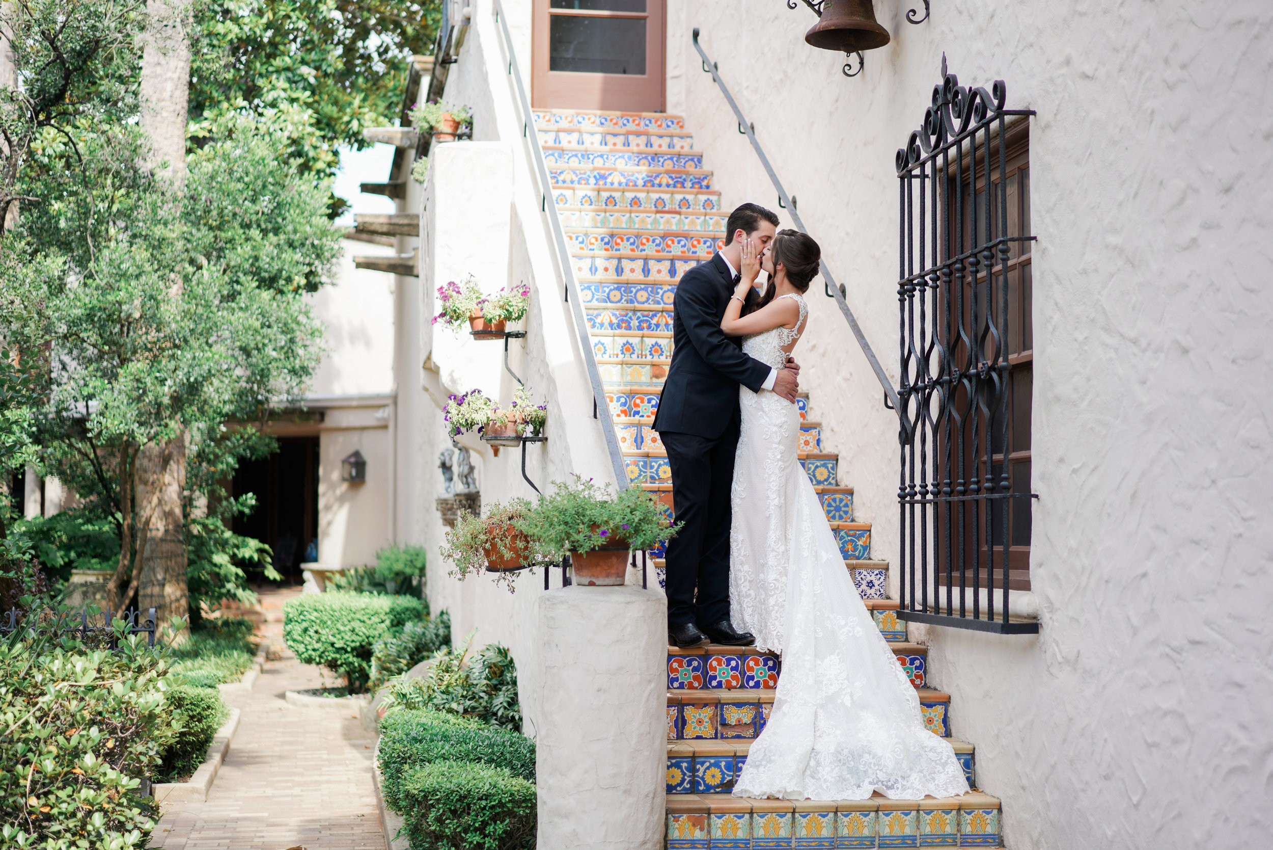 McNay Wedding Photographer- Caitlin Rose Photography. McNay Art Museum Wedding Photos