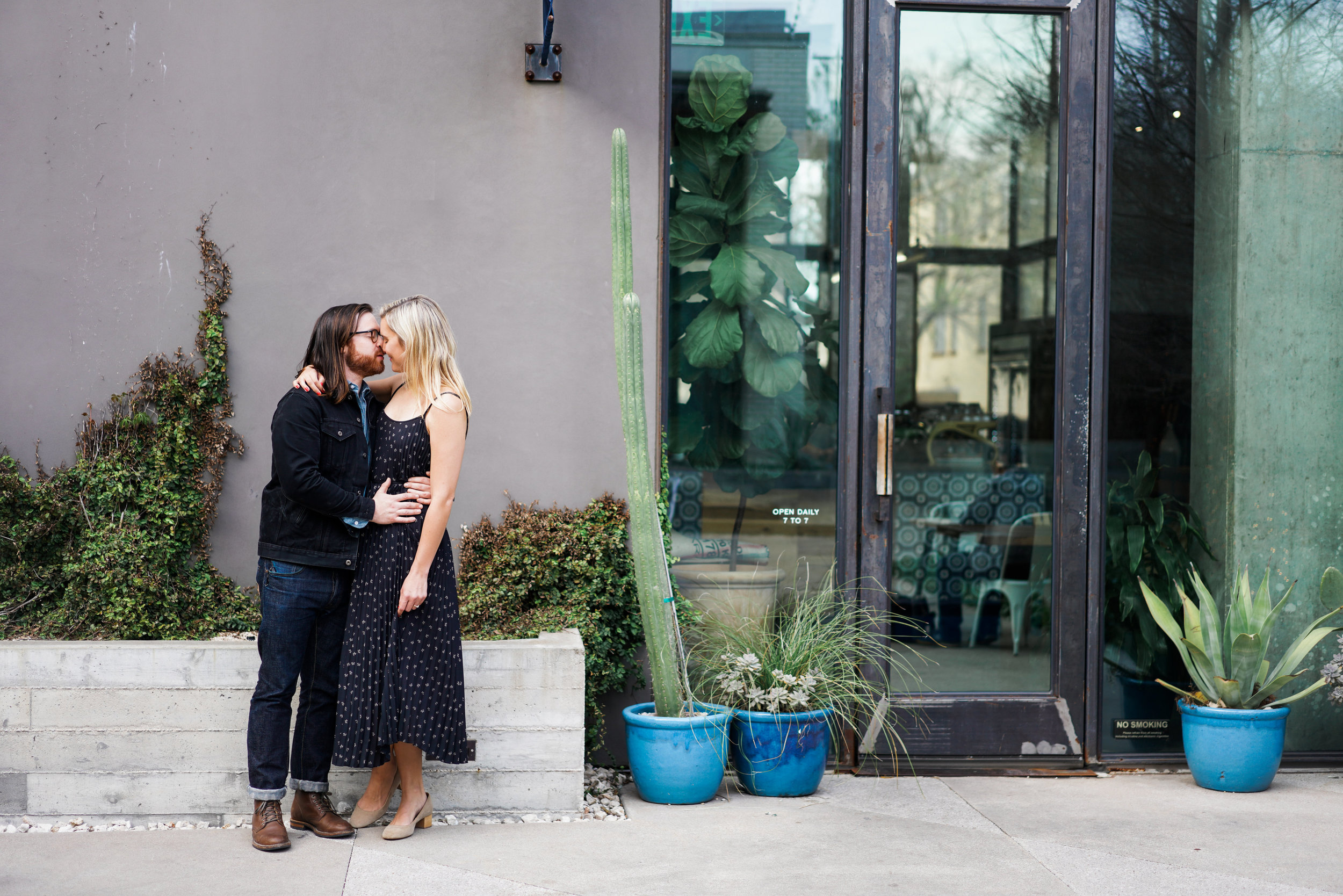 South Congress Engagement session. South Congress Hotel Wedding.