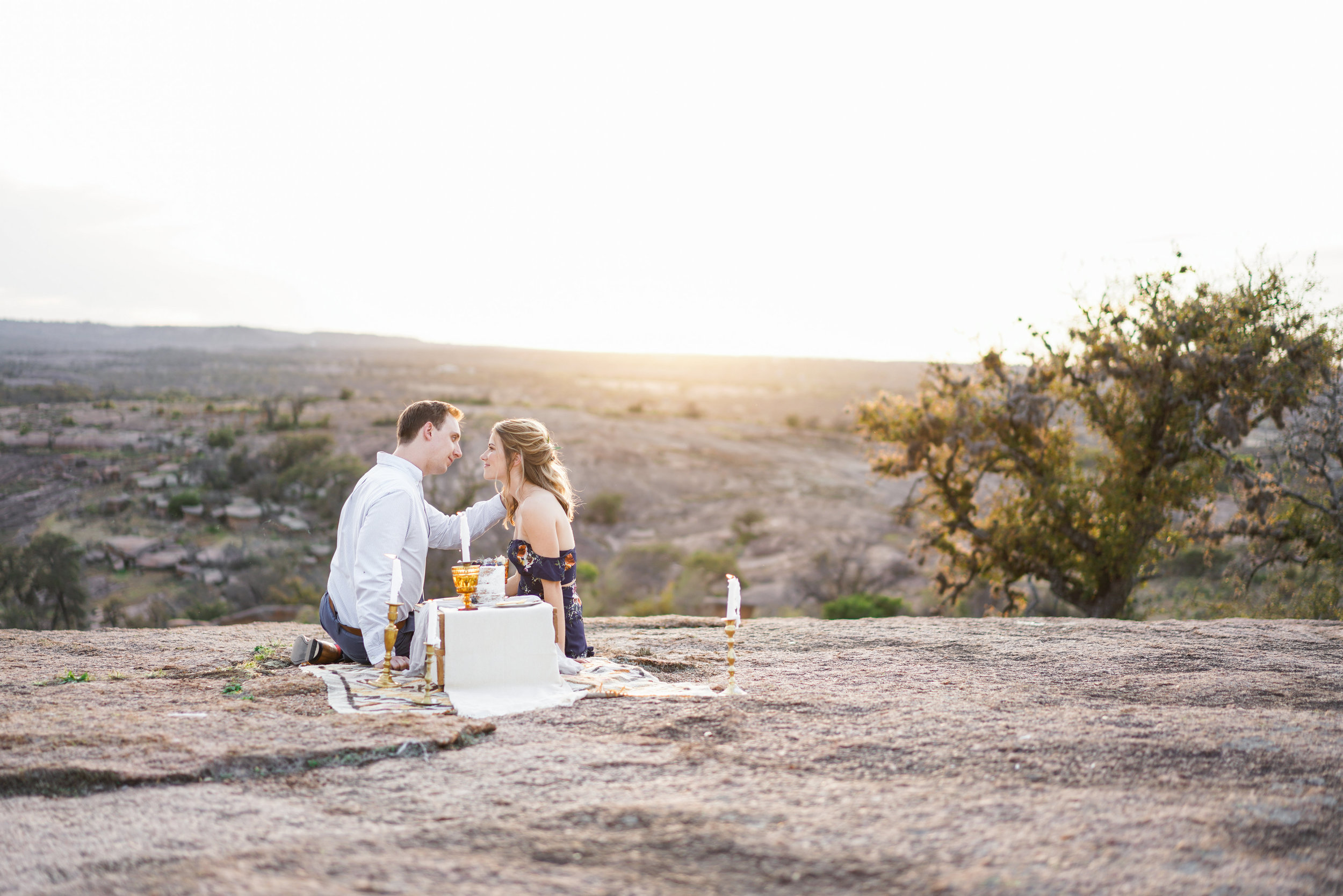 Enchanted Rock Anniversary Session featured on Brides of Austin. Featured Austin Texas Wedding Photographer.