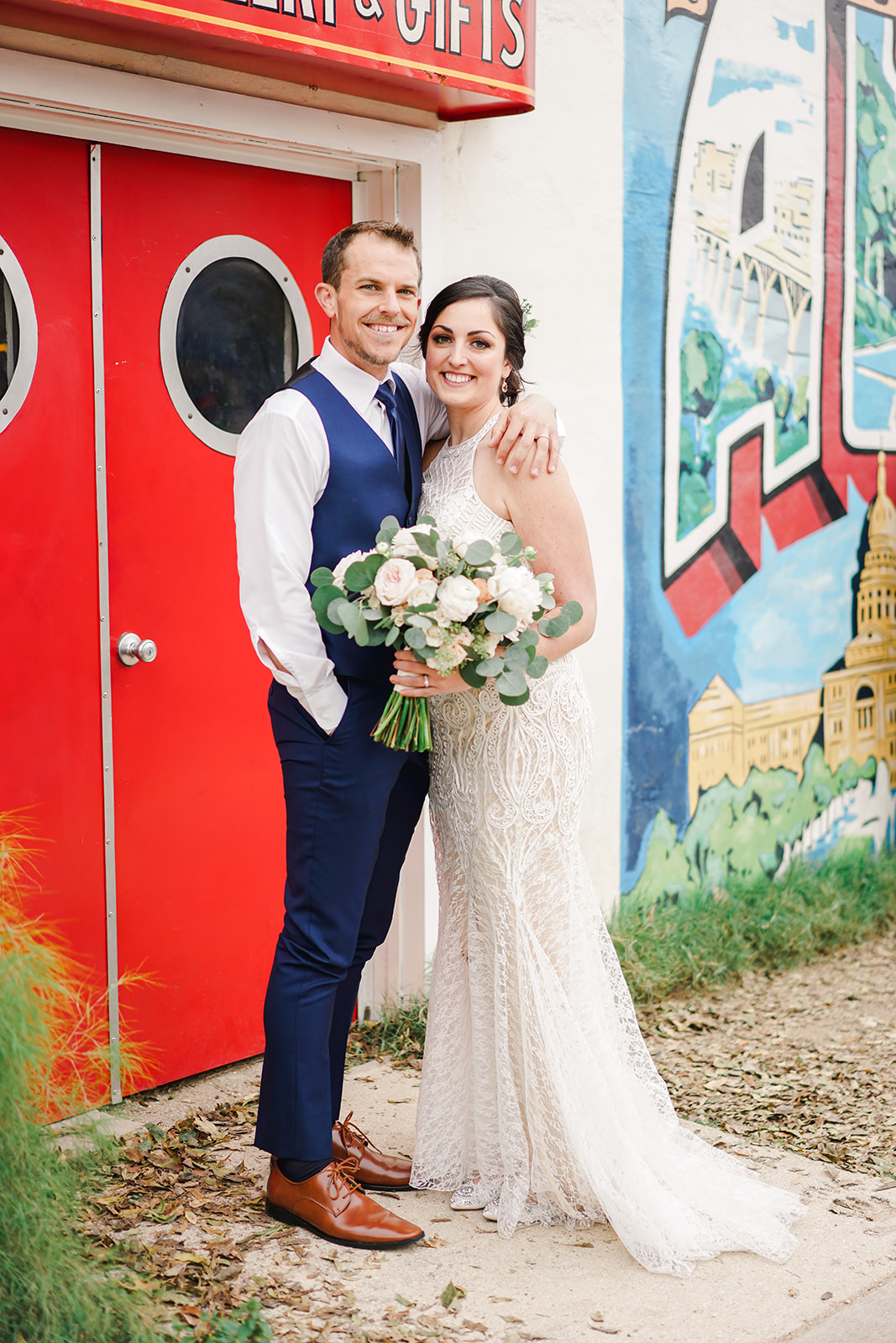 Austin Wedding Photographer | Intimate Austin Wedding Photos | Chapel Dulcinea Wedding | Austin Wedding Venue | Austin Elopement | Caitlin Rose Photography | Greetings from Austin Wedding