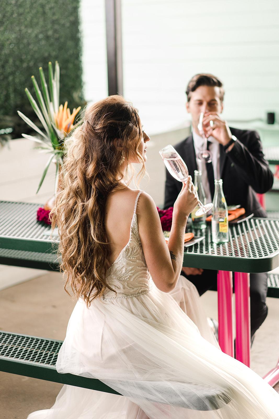 Laguna Gloria Wedding | Laguna Gloria Wedding Photographer | Bridal Musings Styled Shoot | The Last Straw Austin Texas | Kinda Tropical | Austin Wedding Photographer | Maggie Sottero Wedding Dresses