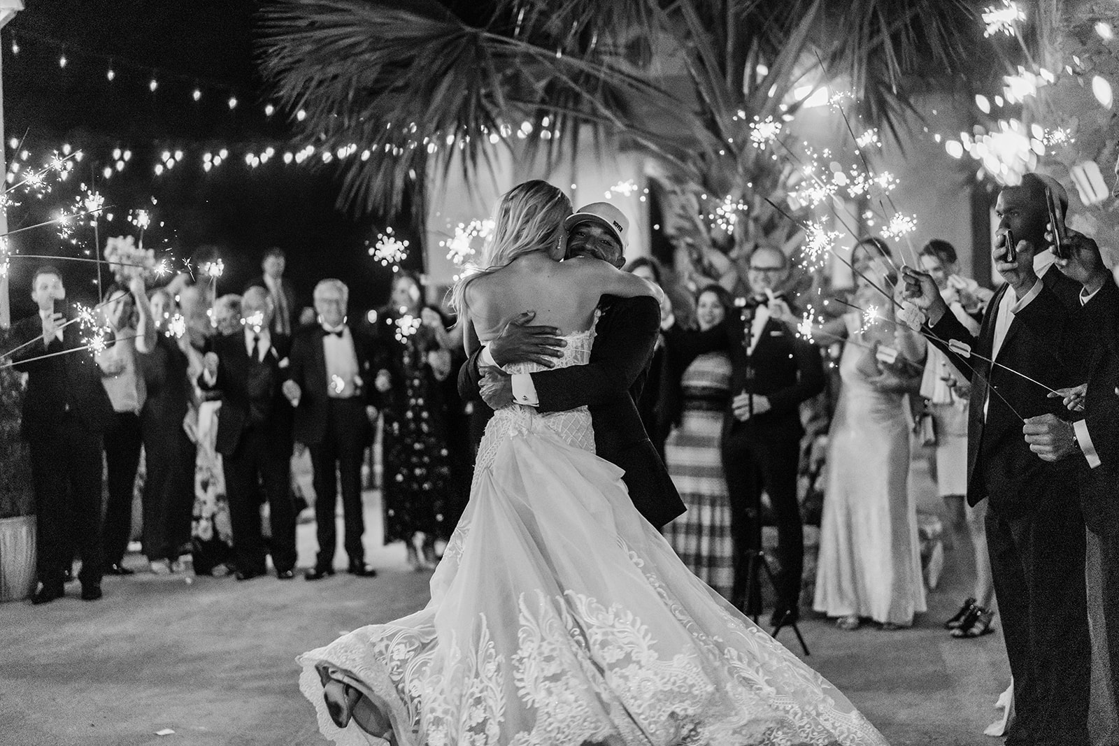 Villa Antonia Austin wedding sparkler send off