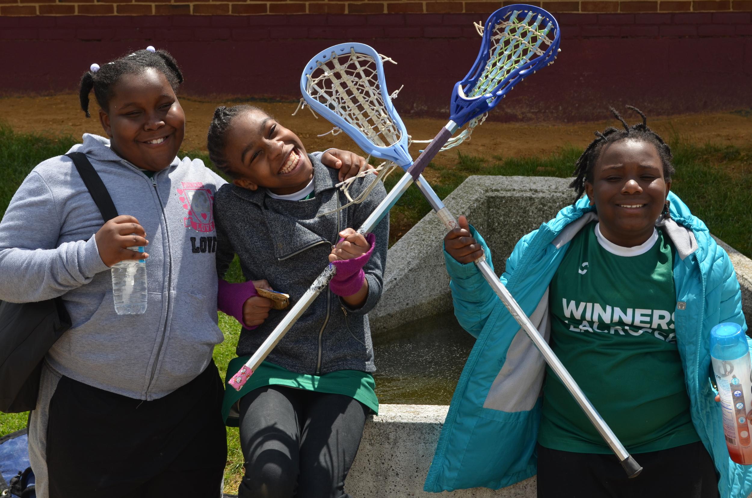 Excel Academy WINNERS Lacrosse girls team