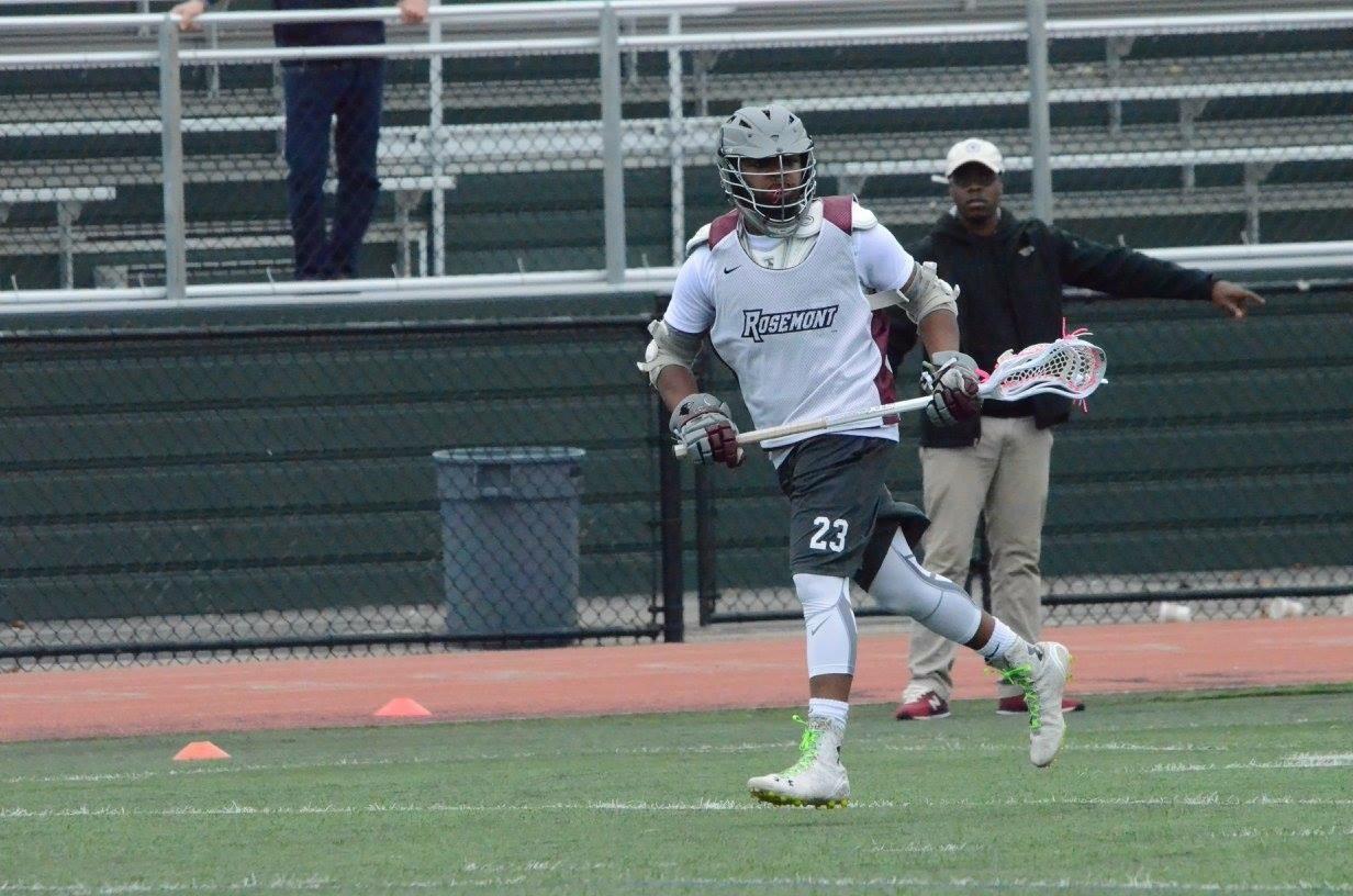 Former WINNERS player Malik Slye playing for Rosemont College.