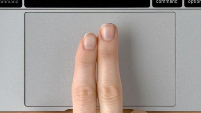 Two finger tap on Mac