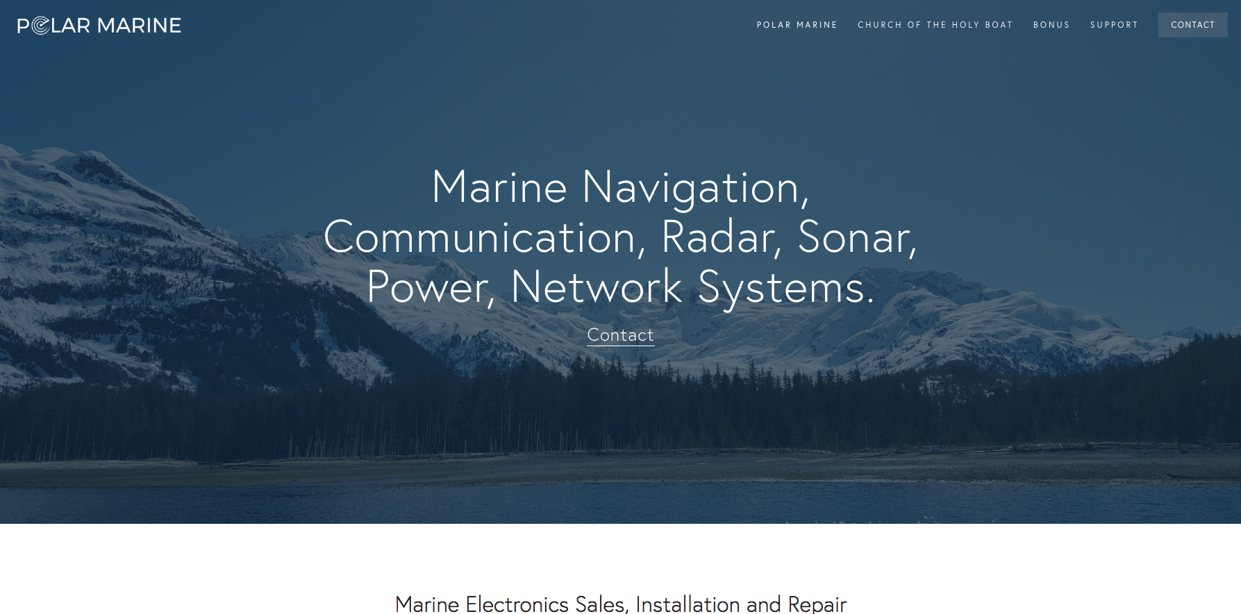 Polar Marine - Renovated a website to allow the most important information to be showcased for future customers